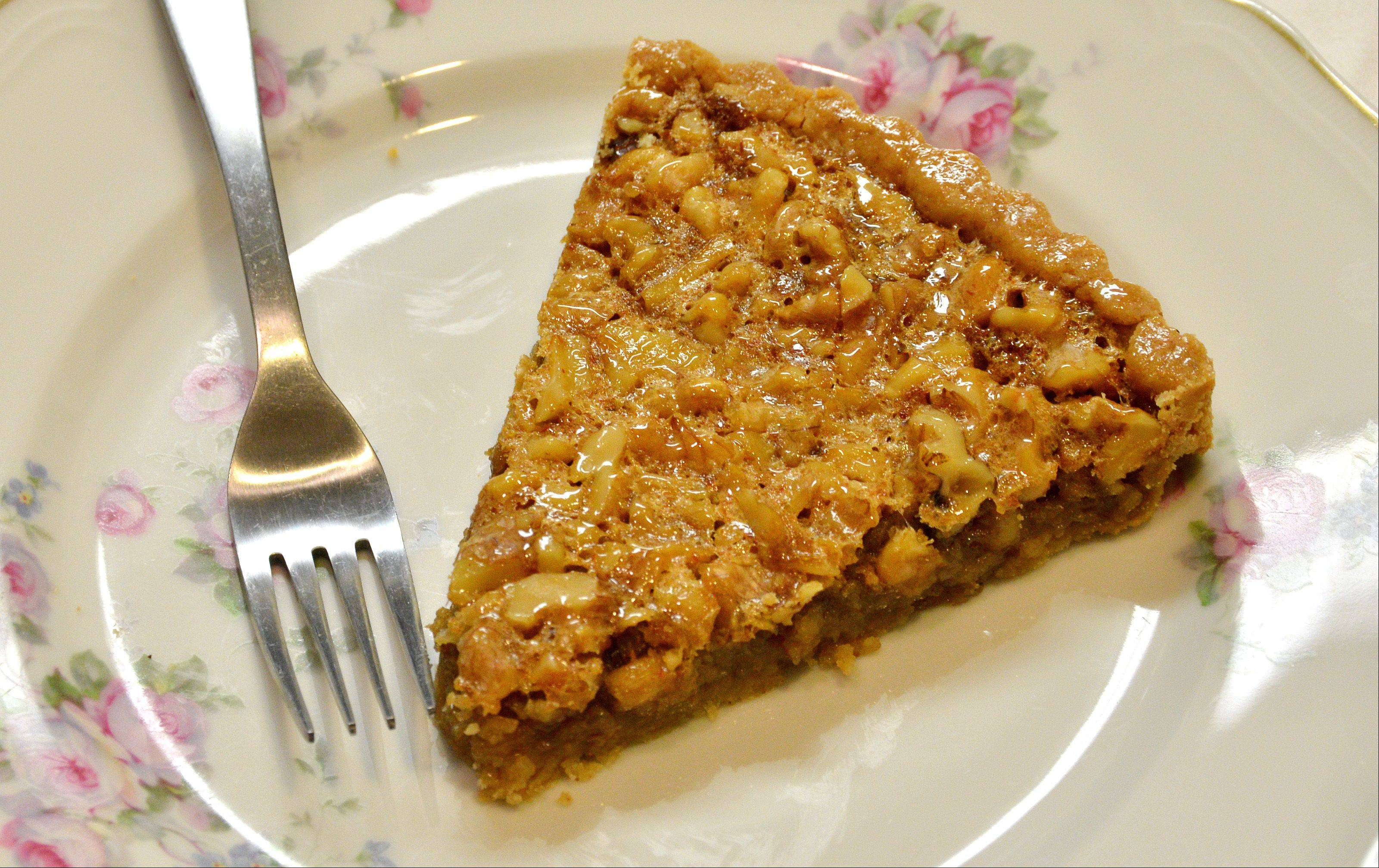 Annie Overboe gave traditional pecan pie a makeover with walnuts as the starring nut and a more savory spiced crust.