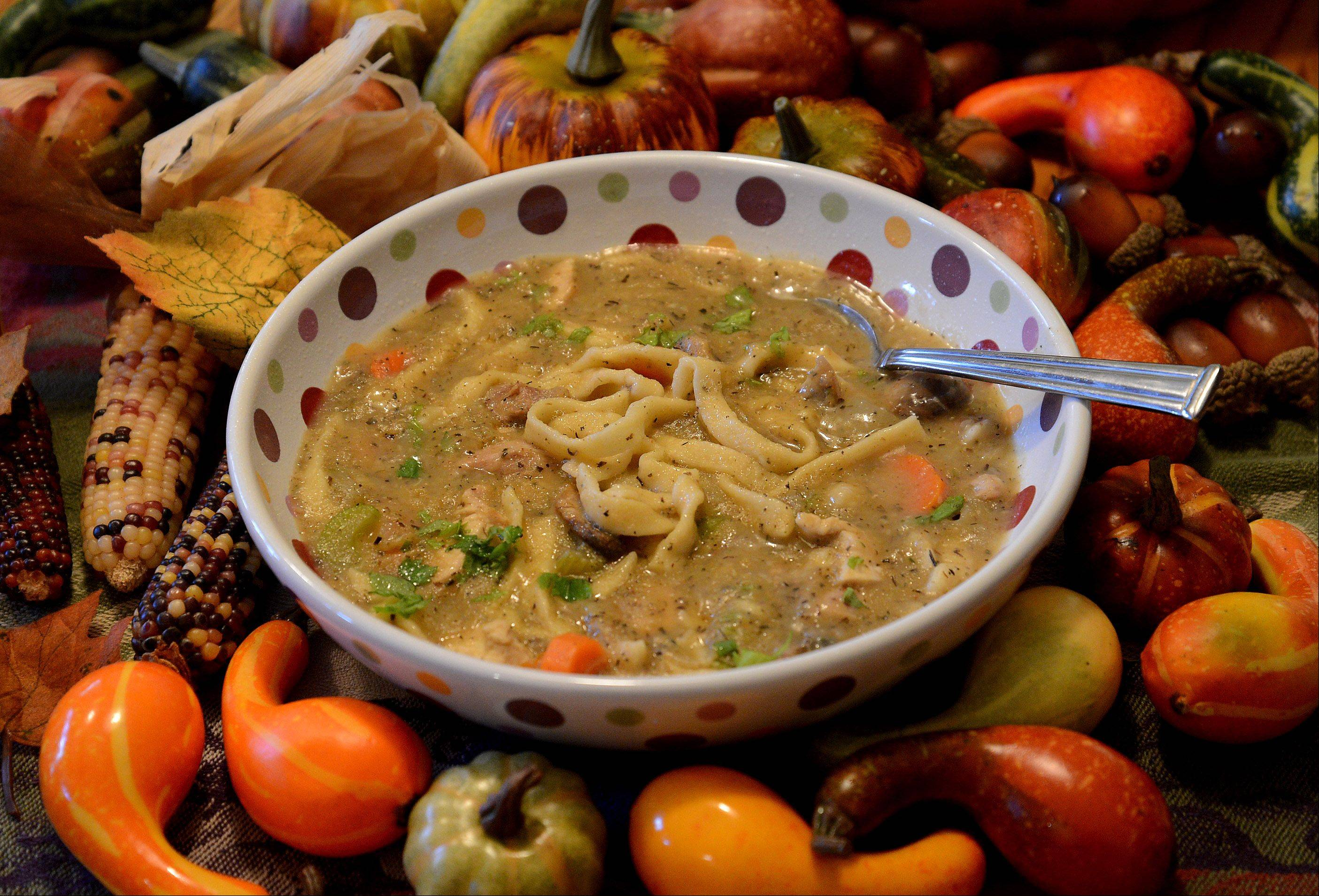 Forget turkey sandwiches. Turn Thanksgiving leftovers into a hot, filling soup.