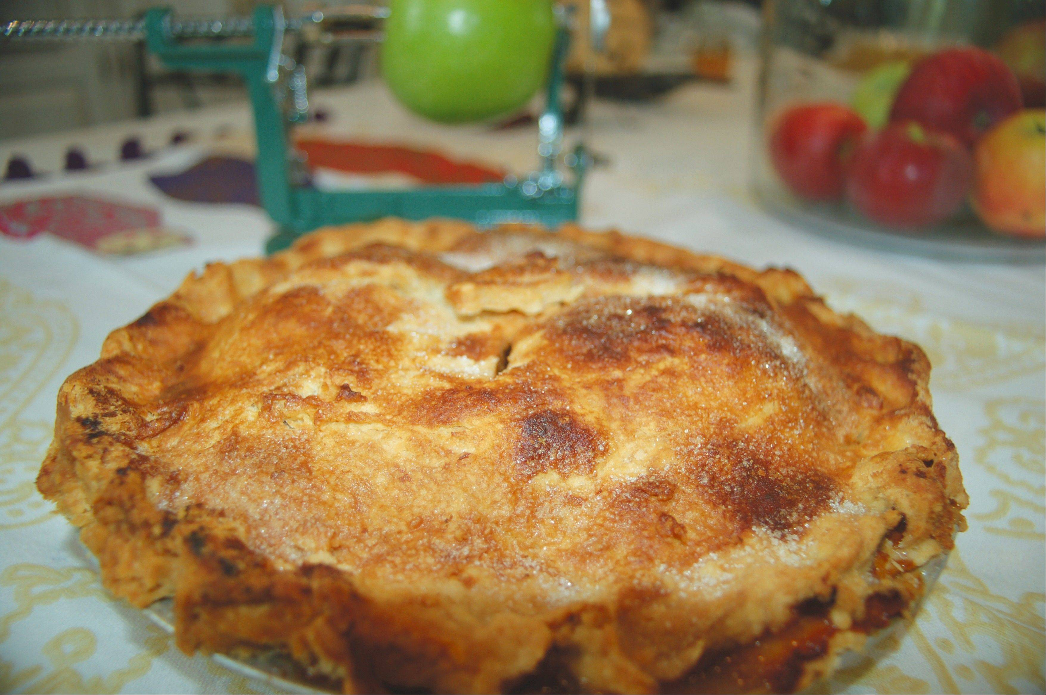 Apple cider and tapicoa work together to create a tangy filling Sweet Cider Apple Pie.