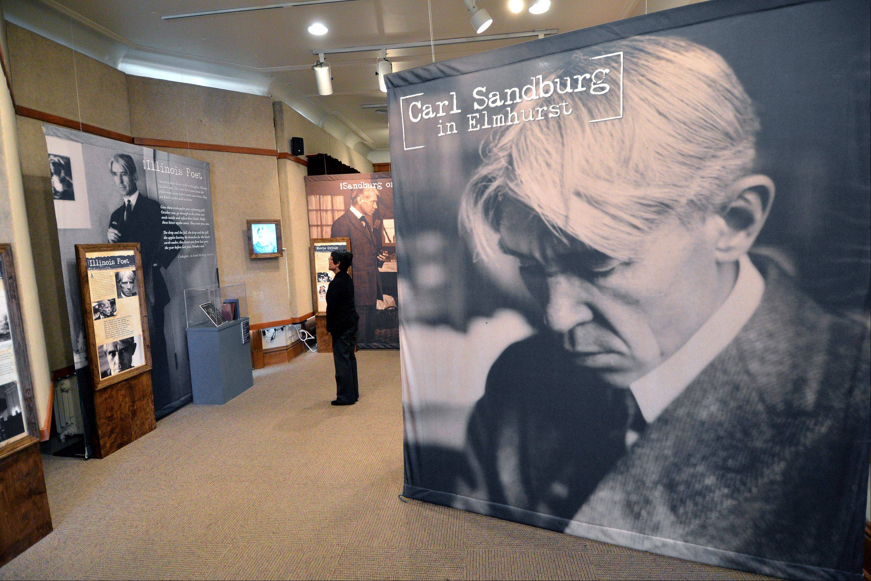 The exhibit �Carl Sandburg in Elmhurst� opened this month and will remain up through April 20, 2014, at the Elmhurst Historical Museum.