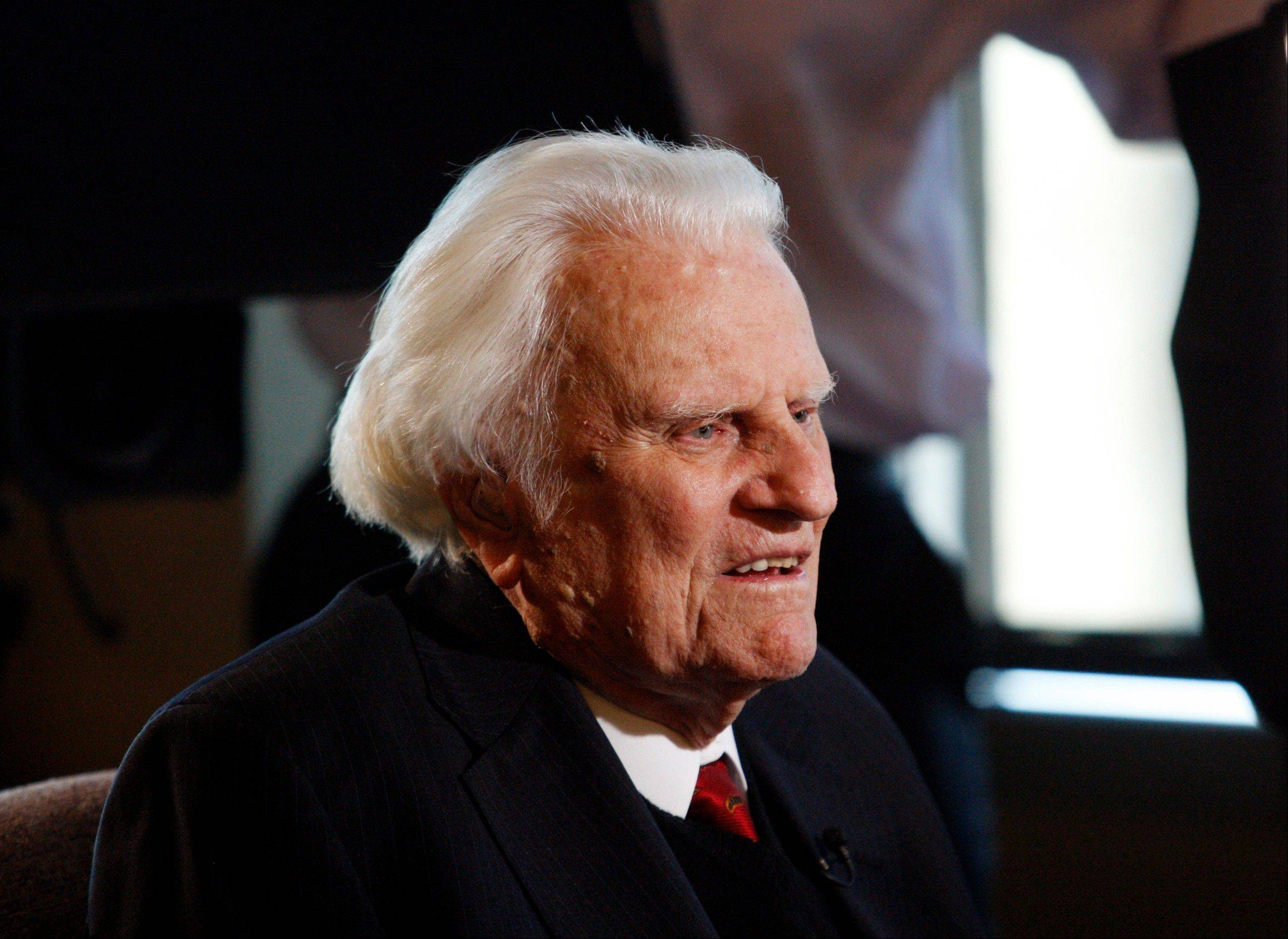 Evangelist Billy Graham, 95, has been admitted for respiratory issues at Mission Hospital in Asheville, N.C. DeMoss says he expected Graham would be able to go home in a day or so.