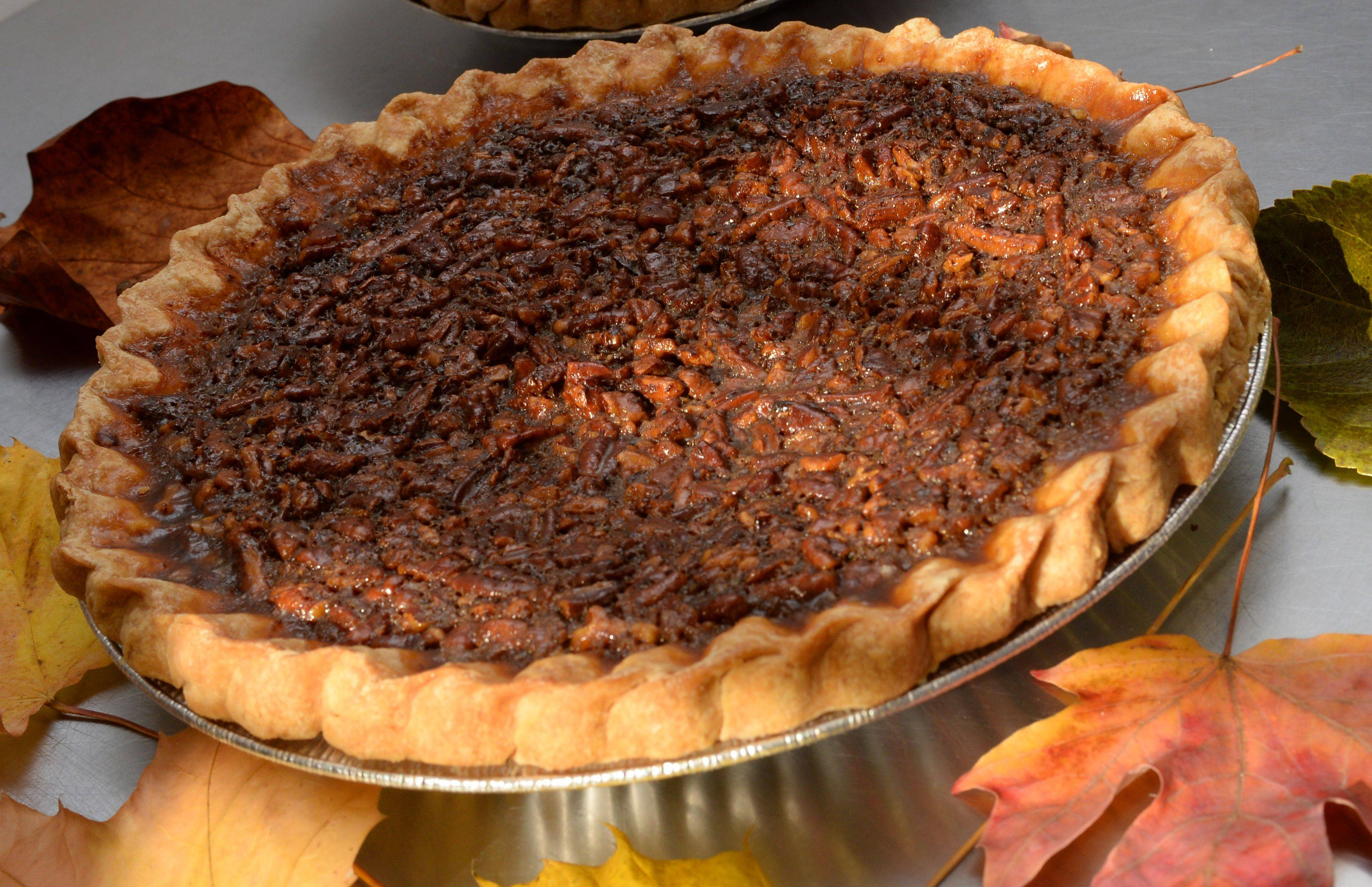 Donnalyn Vojta's pecan pie that she baked in her store Crust'em Sweets store in Palatine.