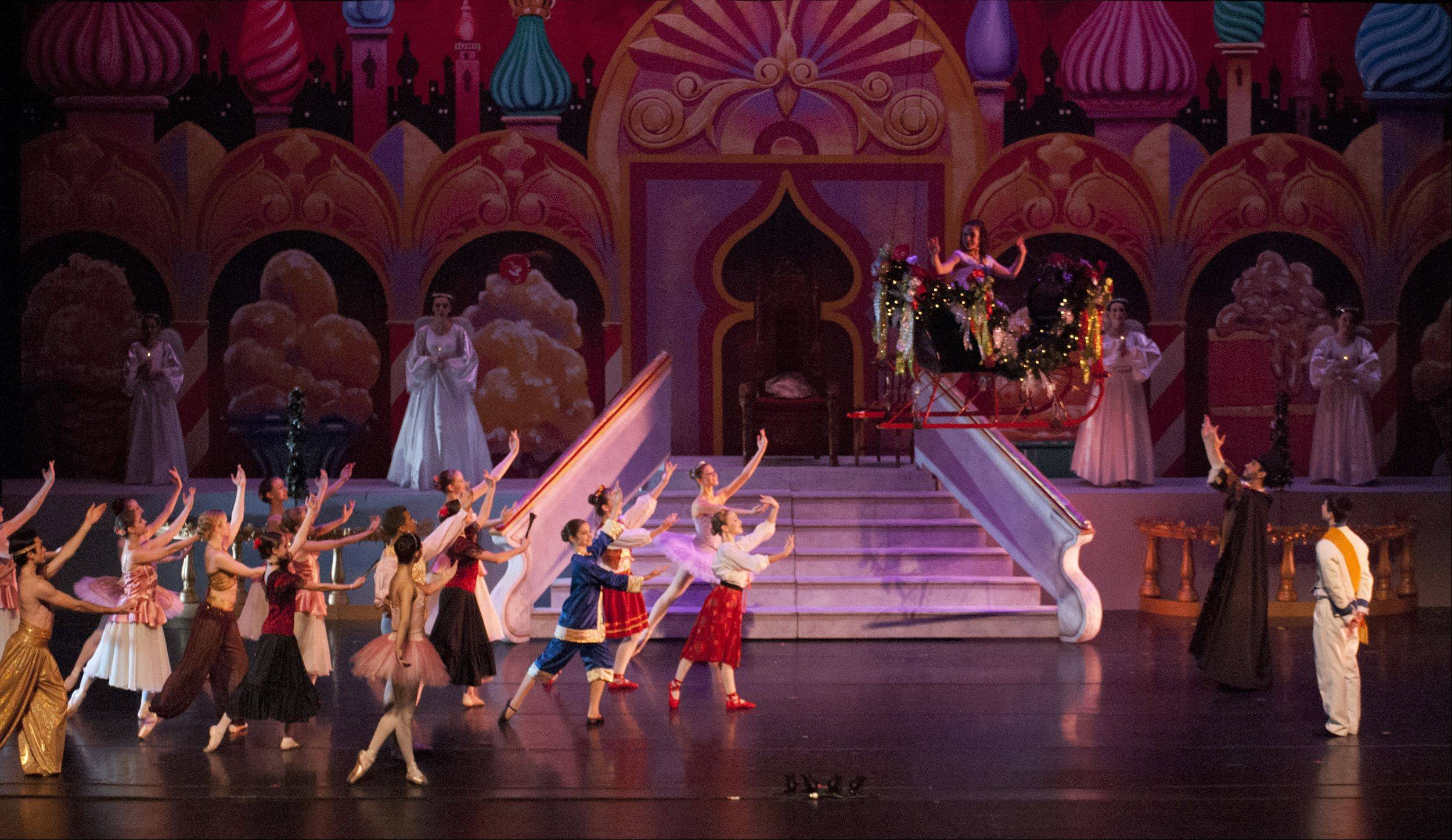 "Elaborate set designs and costumes help to make State Street Dance Studio's production of ""The Nutcracker"" magical."