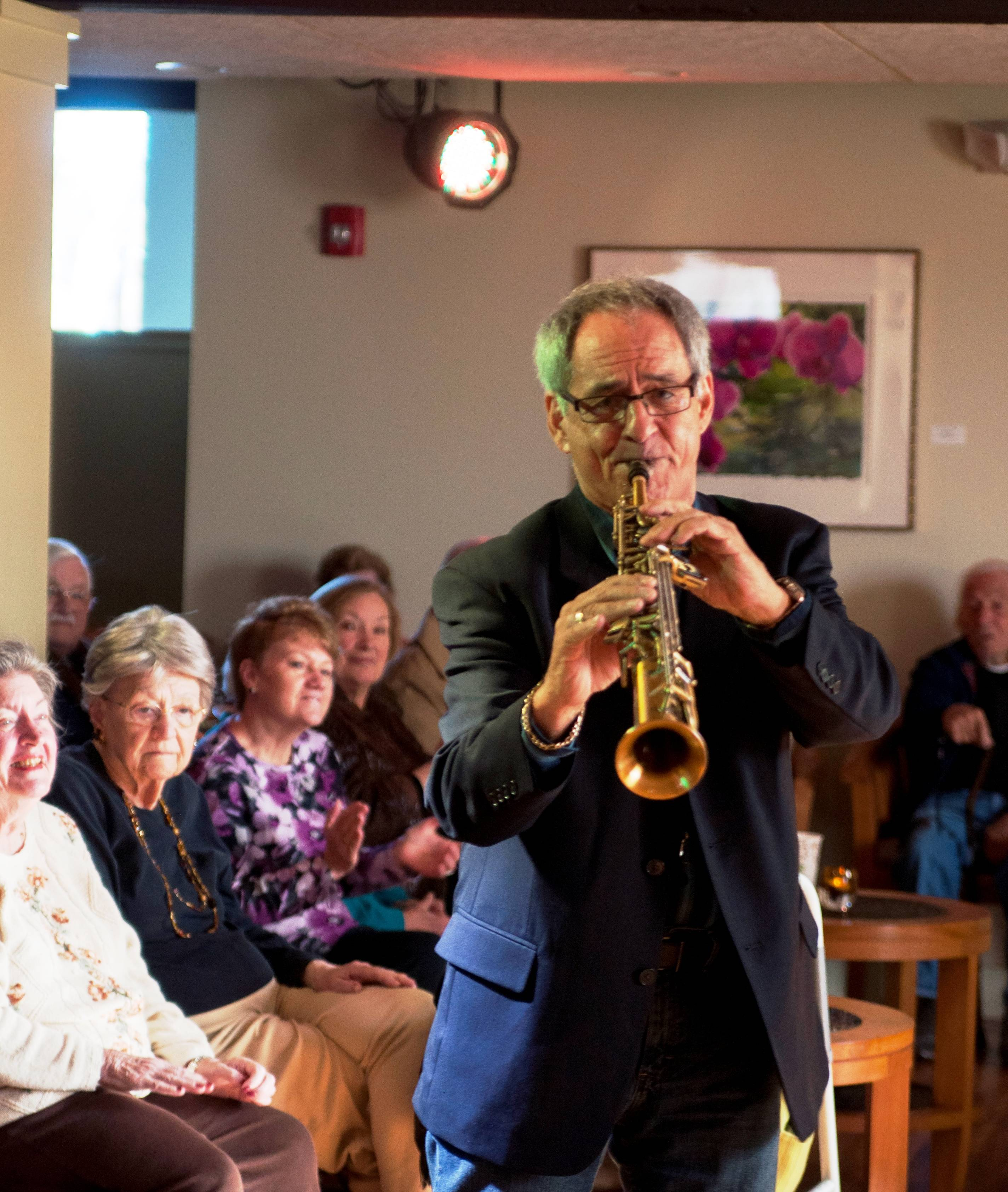 Phil Ciancio entertains Seniors on Nov. 13 at 'the Listening Room' at Lakeside Legacy Arts Park. Upcoming concert information can be viewed at www.LakesideLegacy.org.