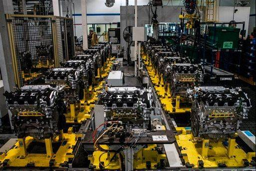 The production line of the General Motors 3.6-liter, 302 horsepower (224 kW) V6 engine at GM's Flint Engine in Flint, Mich. The U.S. government expects to sell the last of its stake in General Motors by the end of the year, bringing an end to a sad chapter in the 105-year-old company's history.