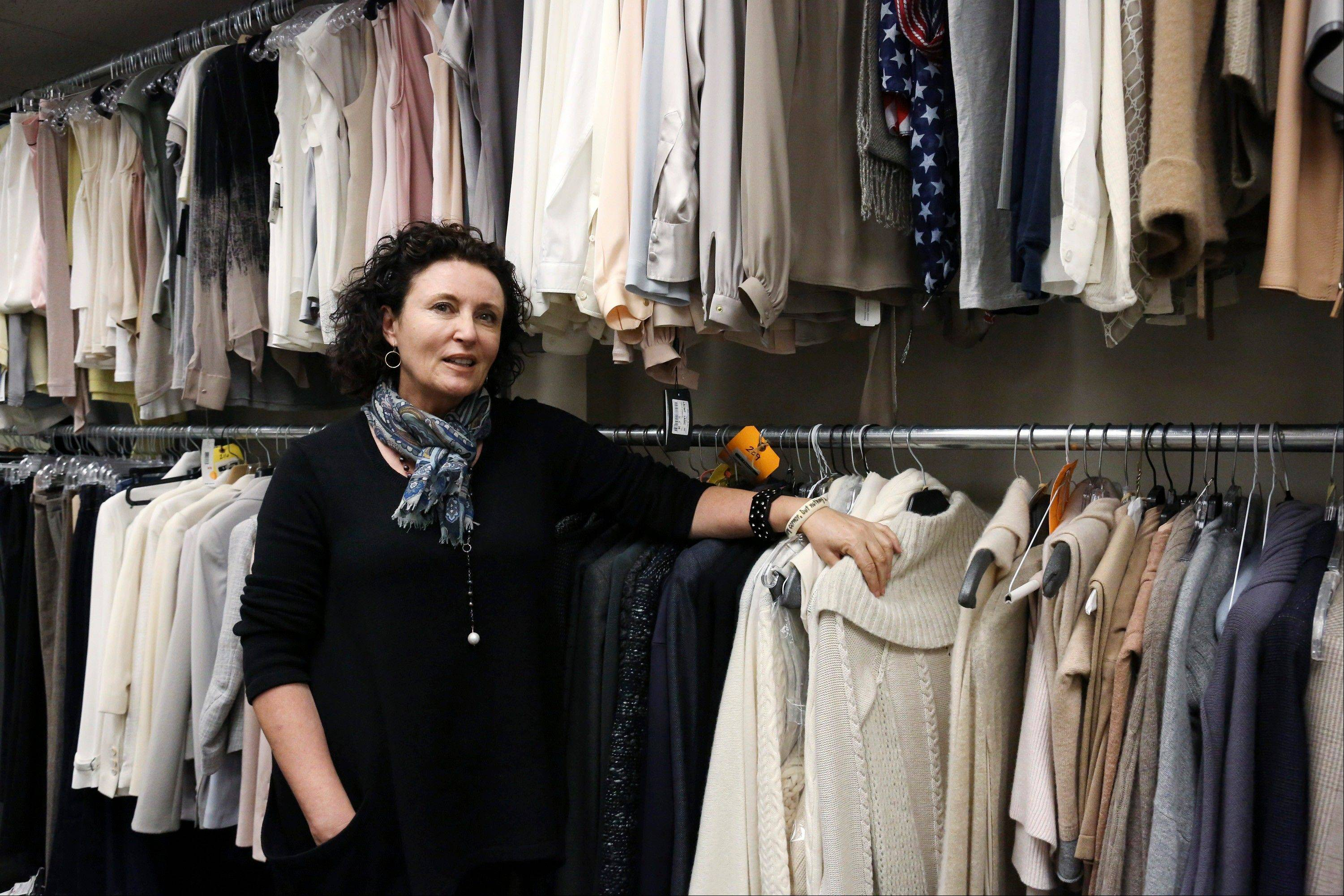 "Costume designer Lyn Paolo shows the many and varied costumes for the ABC drama series ""Scandal"" in the show's wardrobe closet on the Sunset Gower lot in Los Angeles."