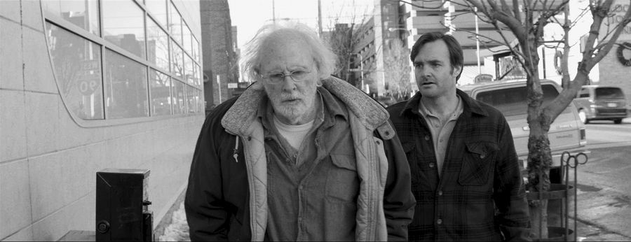"Woody (Bruce Dern), left, travels to Nebraska with his son David (Will Forte) in Alexander Payne's drama ""Nebraska."""