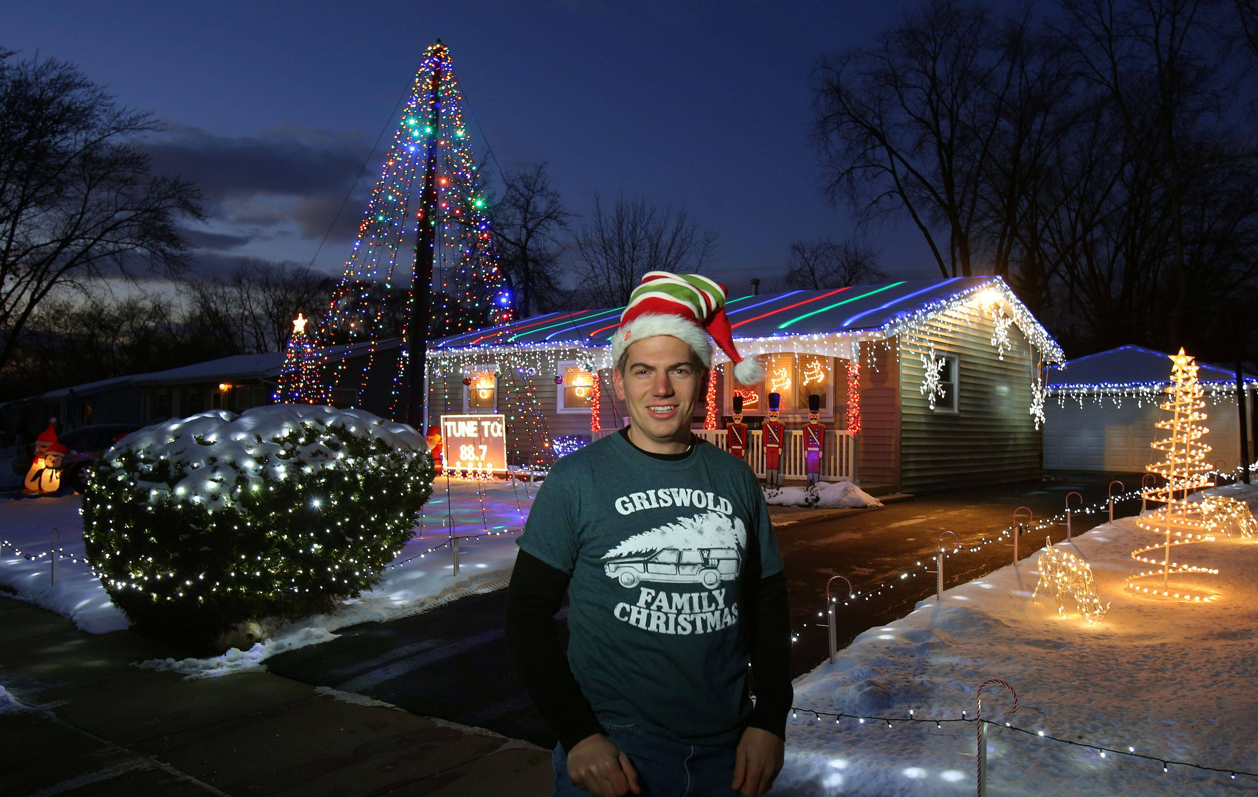 Mark Tarkowski's display at 653 Walnut Road in Wauconda won the Editor's Choice award for Lake County in the Daily Herald's holiday lights contest.