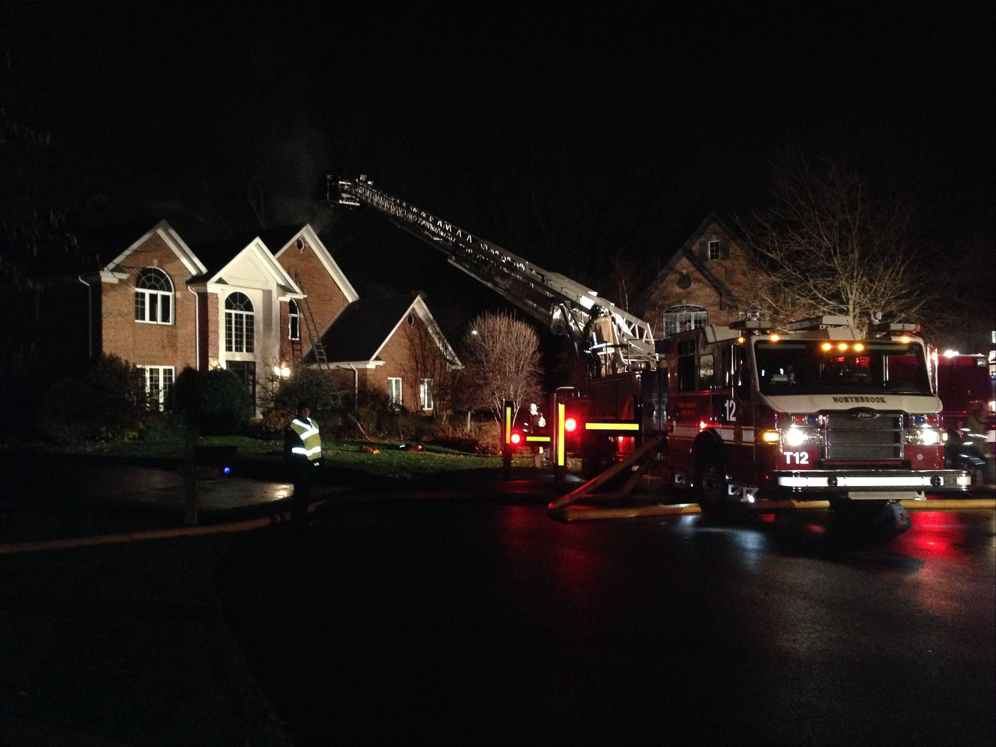 Crews responded to a house fire on the 400 block of Cherry Creek Lane in Prospect Heights on Thursday night.