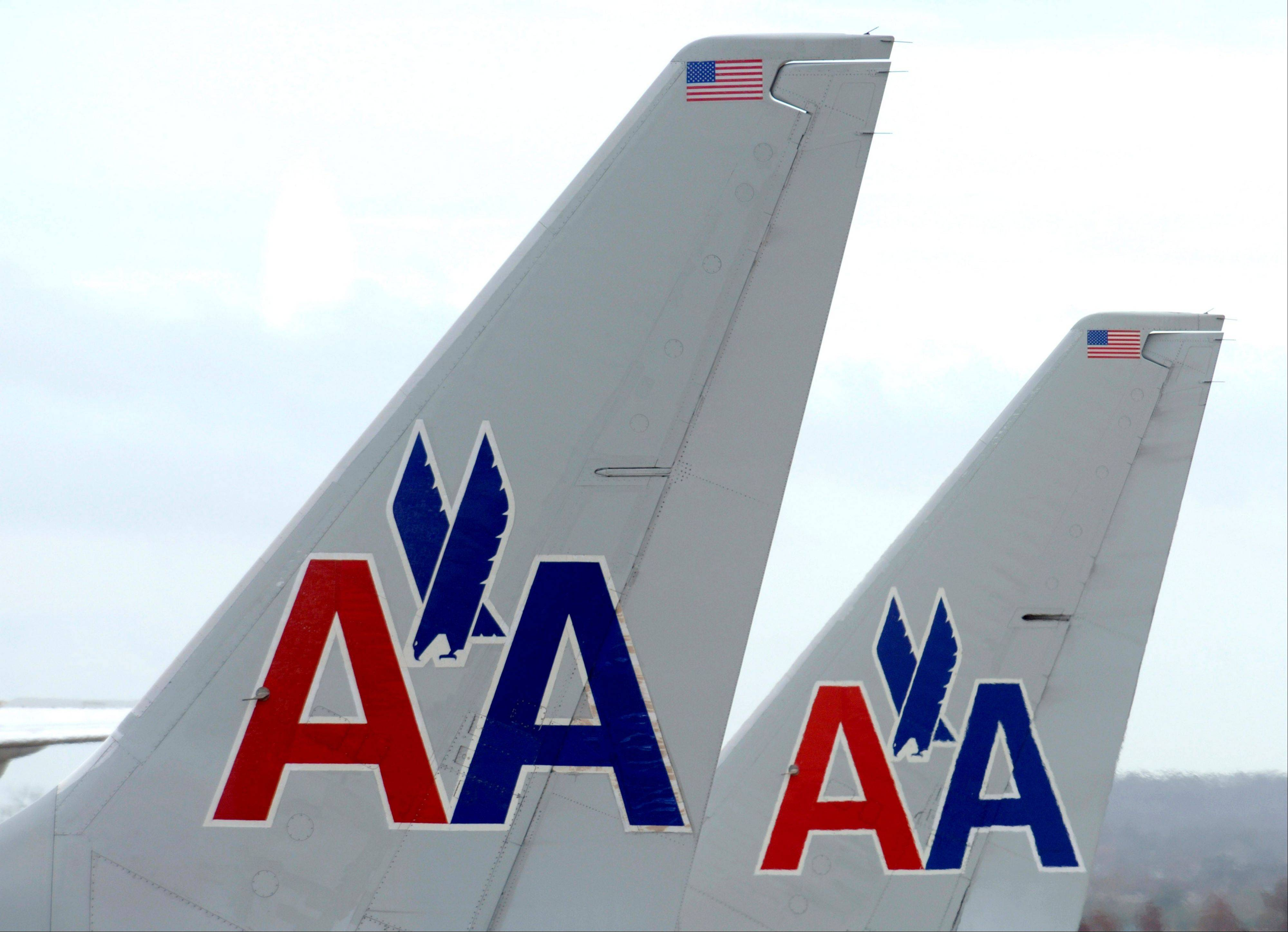 American Airline planes sit at a gate at Washington's Ronald Reagan National Airport.