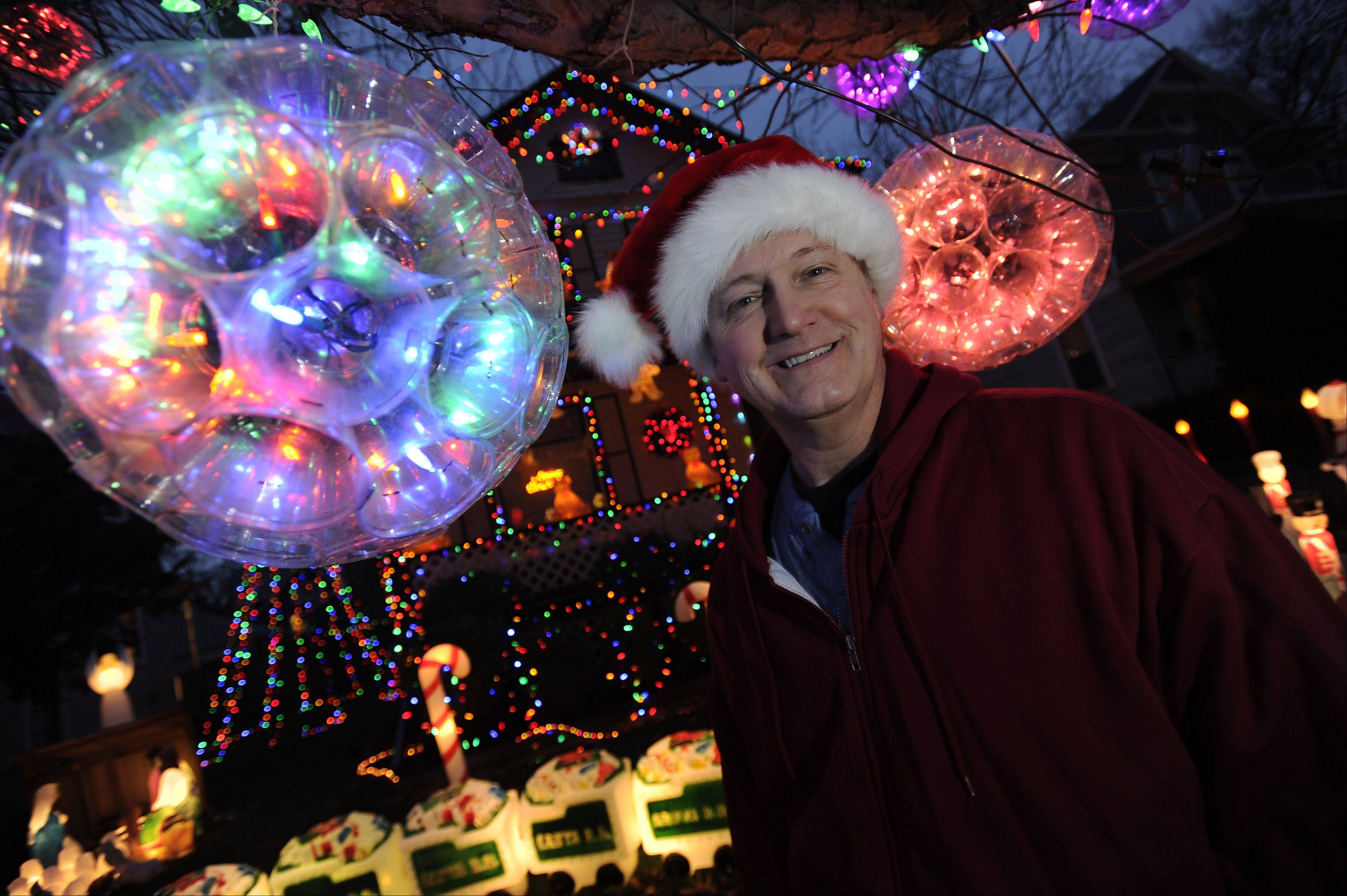 Elgin resident Michael Arnold won the Daily Herald�s holiday lights contest in 2011.