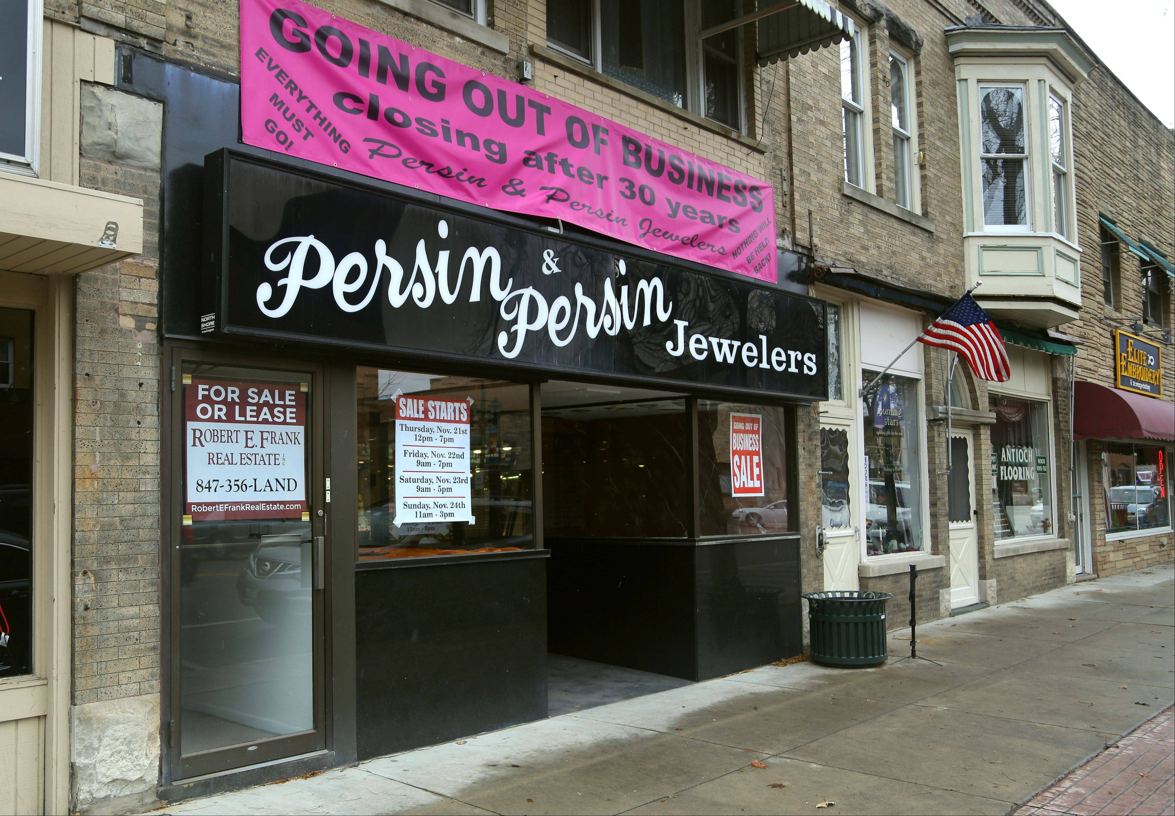 Julian Persin, owner of Persin & Persin jewelry store in Antioch, is closing the business he's run for nearly 30 years.