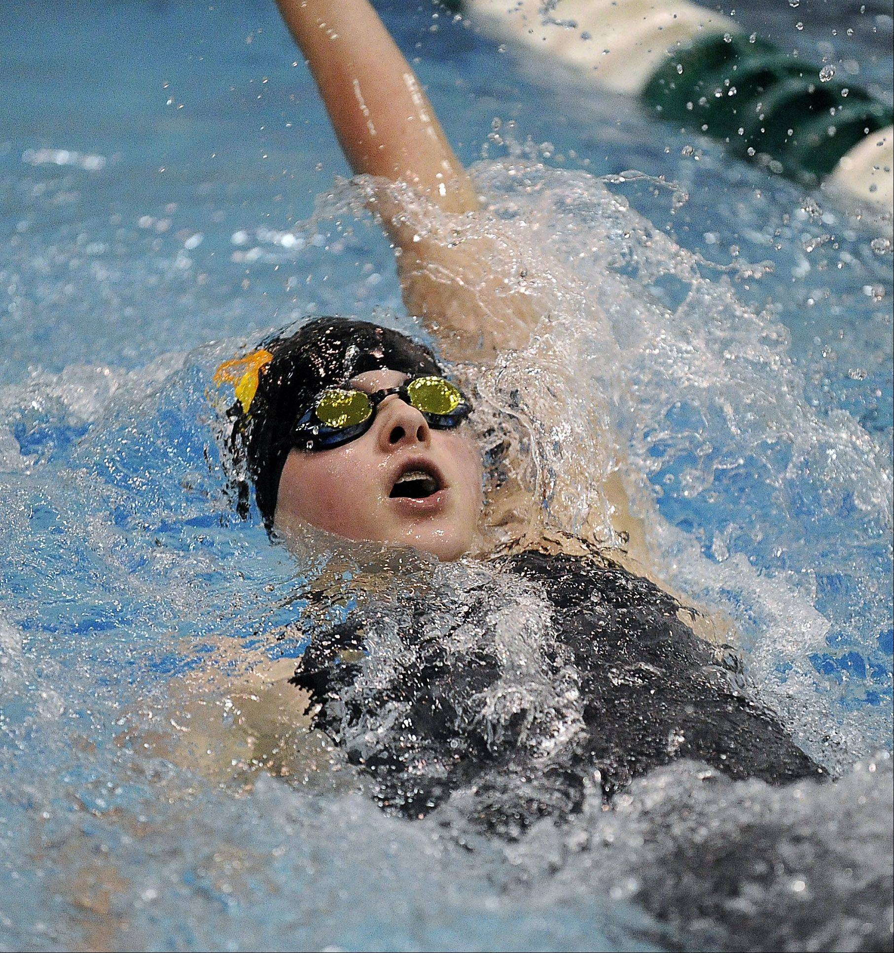 Emma Richert of Libertyville competes in the 200 IM at New Trier High School on Friday.