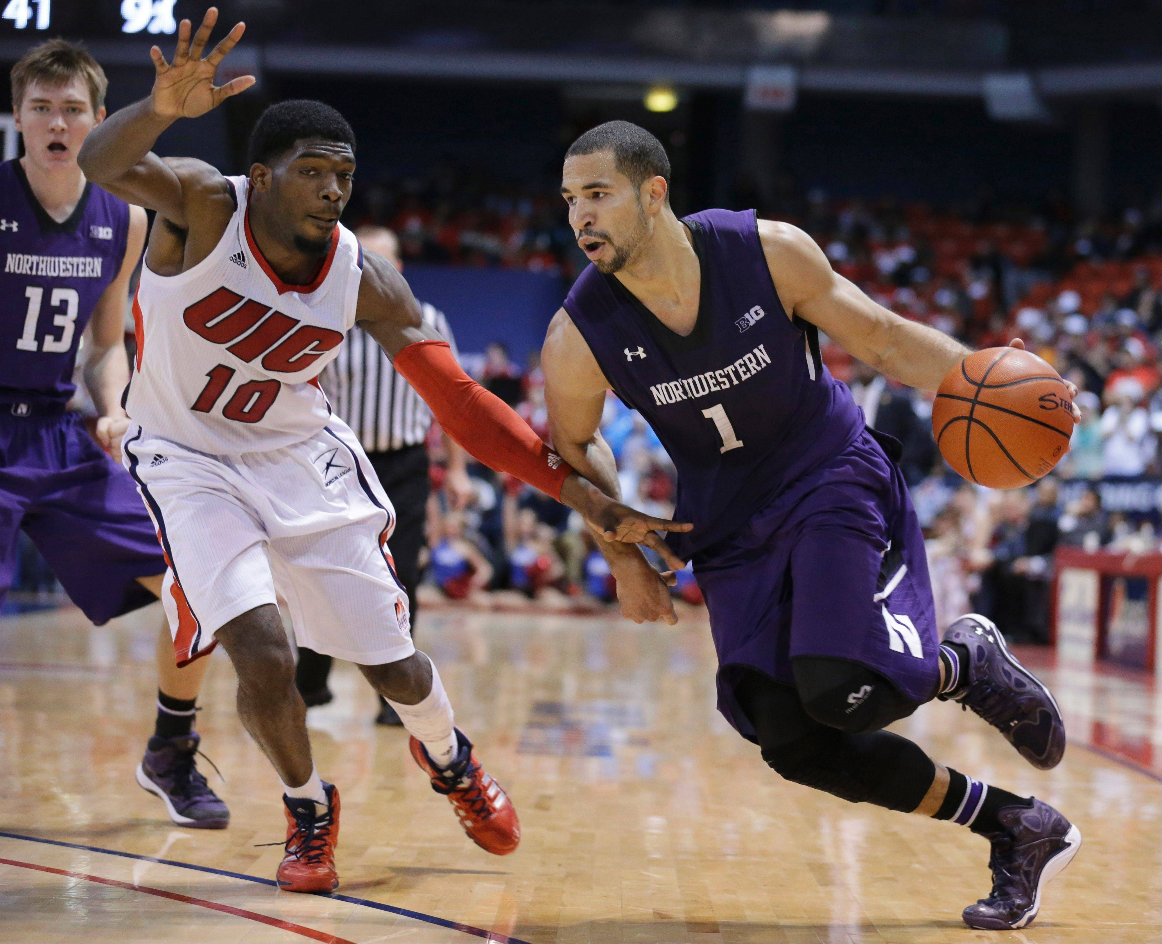 After sitting out most of last season, Northwestern guard/forward Drew Crawford, right, is getting his all-around game back on track. The fifth-year senior from Naperville is leading the Wildcats in scoring.