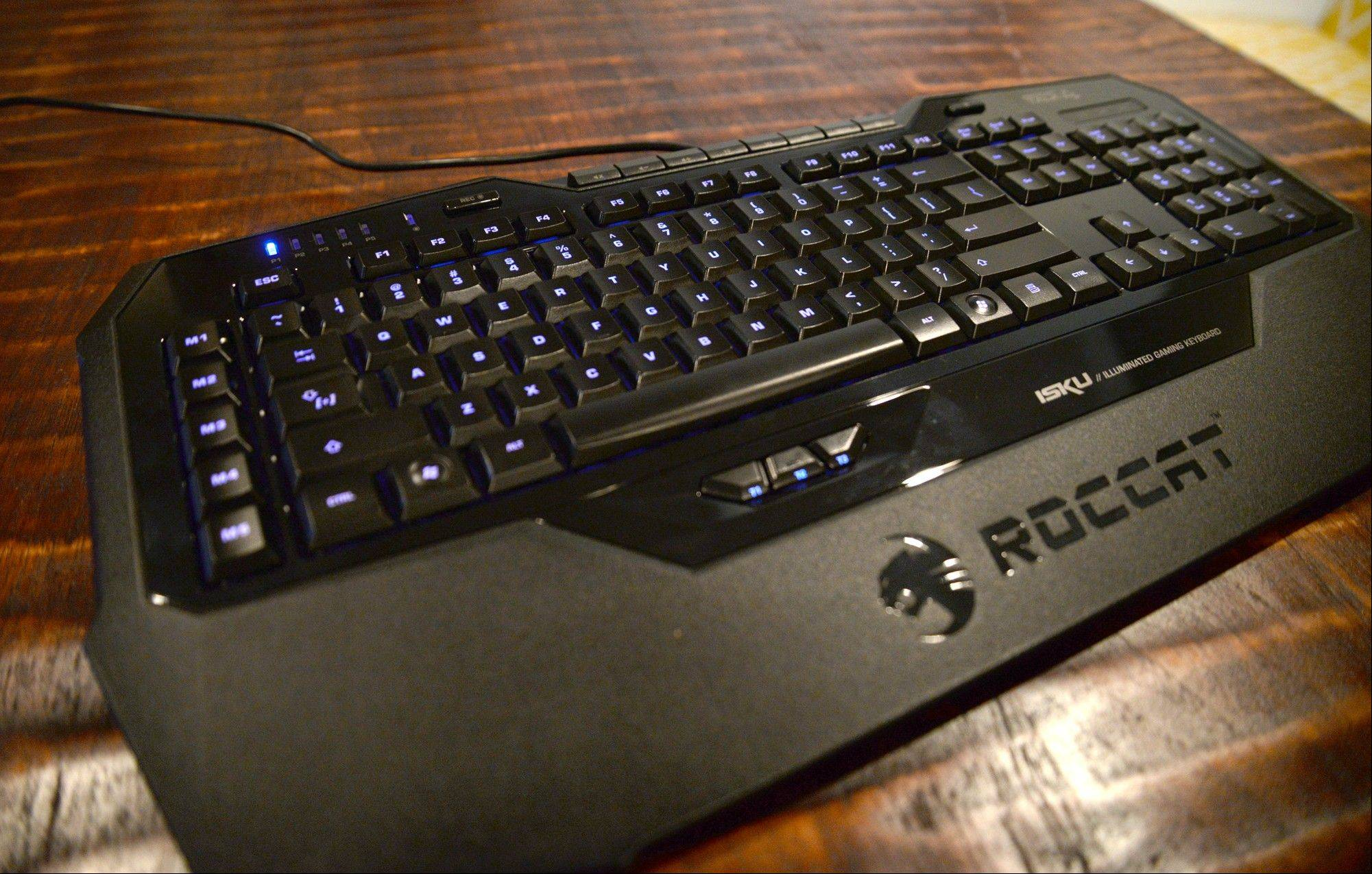 Roccat Isku FX keyboard has adjustable backlighting for the keys and programmable marcos to augment the PC gaming experience.