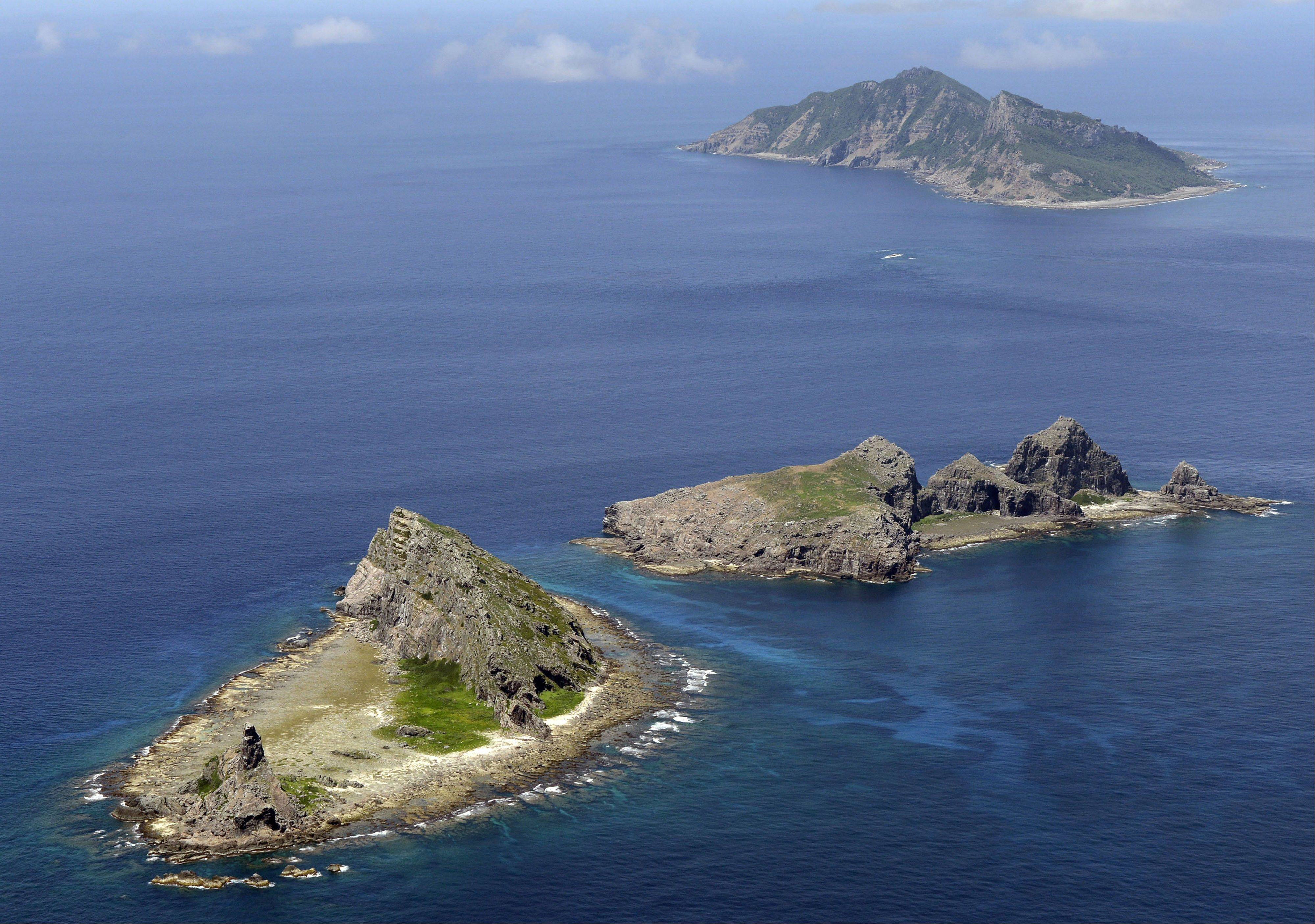 Associated Press/2012 photo The tiny islands in the East China Sea, called Senkaku in Japanese and Diaoyu in Chinese, are center stage in a dispute betweem China and Japan.