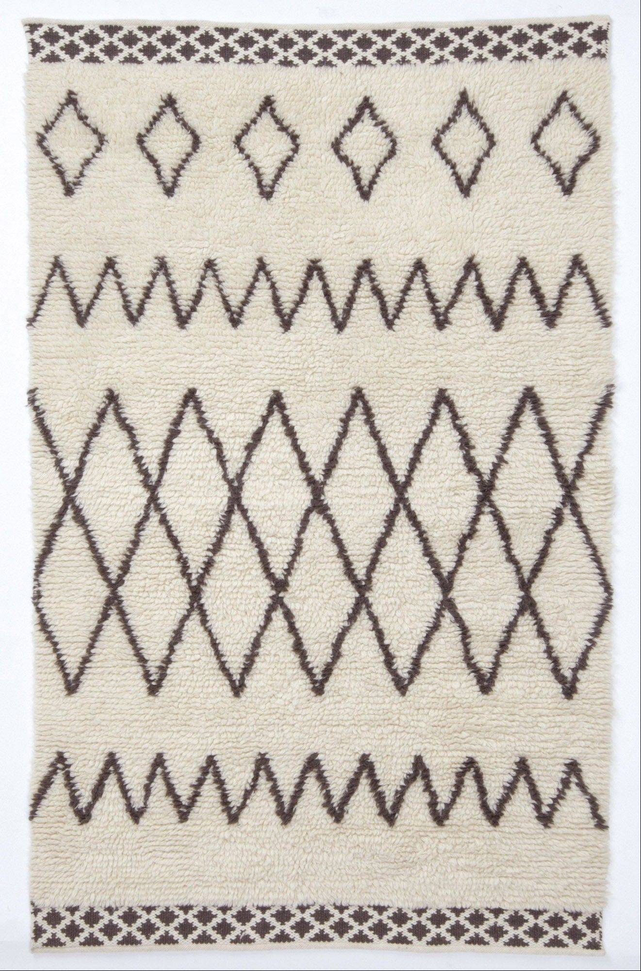 Courtesy of West Elm West Elm's Kashah rug is more affordable than genuine Moroccan Beni Ourain rugs, and it's available in larger sizes.