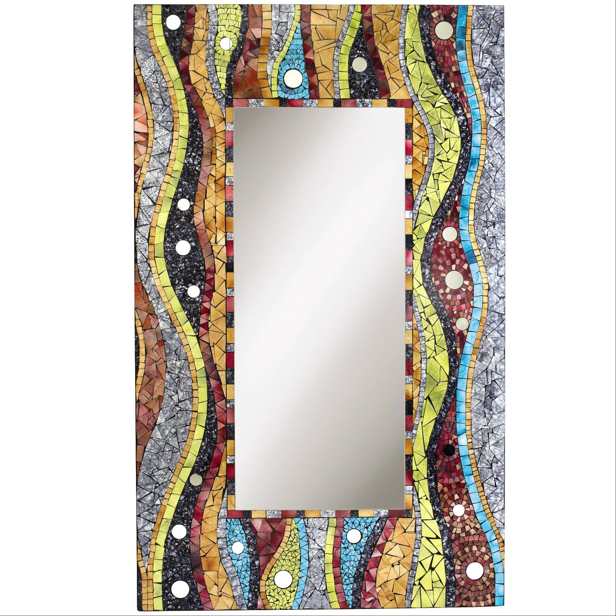 This mosaic-framed mirror by Pier 1 Imports can add pop to a boring foyer.