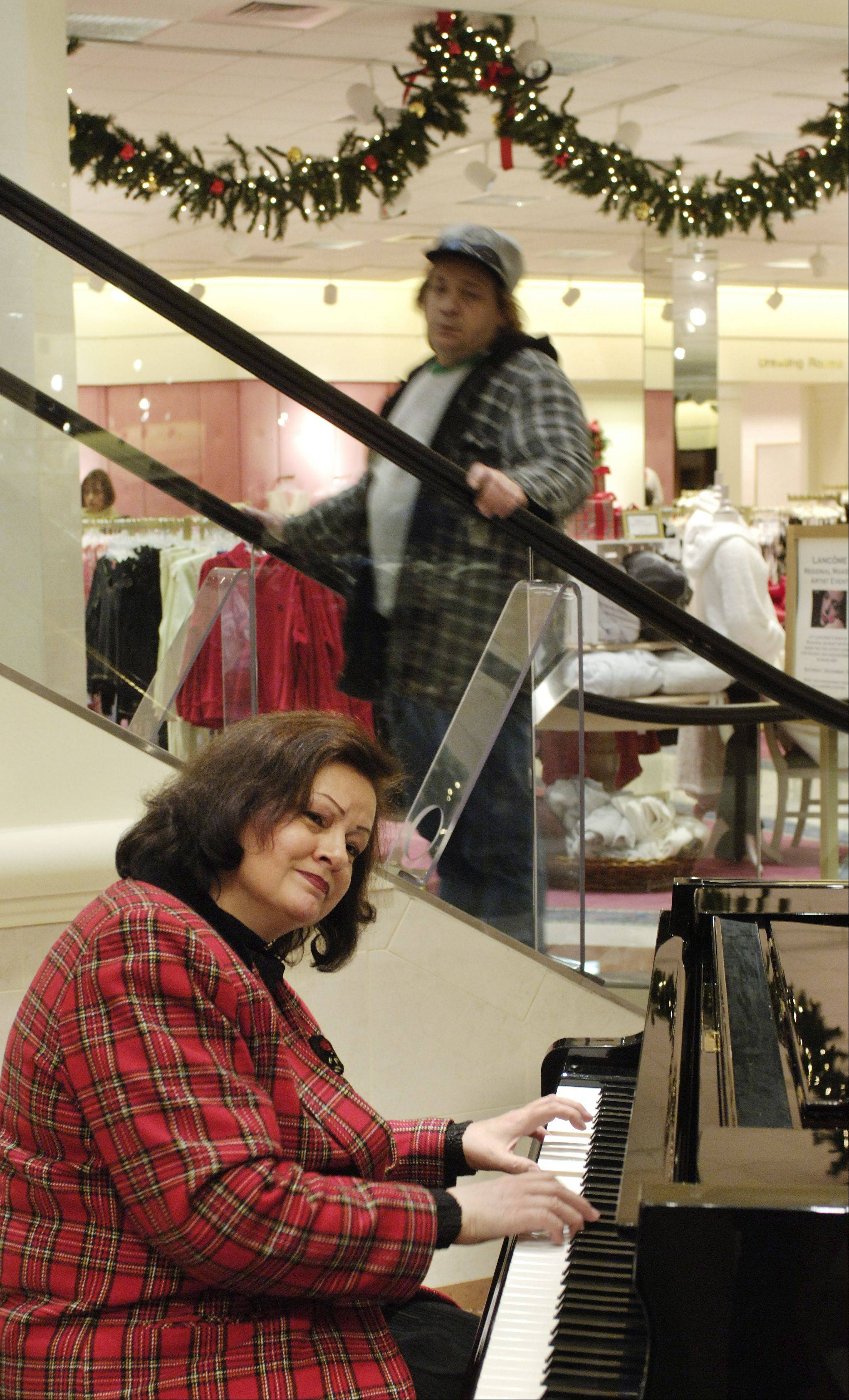 Even though Charlestowne Mall has changed its name and owners, visitors can count on Von Maur to entertain people during the holidays.