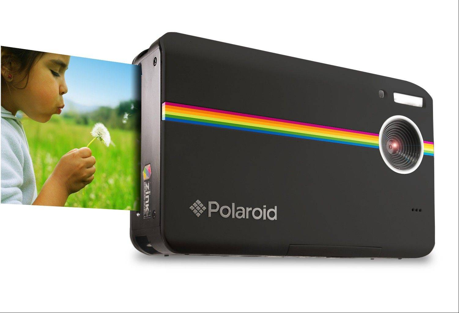 The new digital Polaroid camera Z2300 can print photos instantly, plus it offers a choice of borders, you can preview photos before printing and save images to upload.