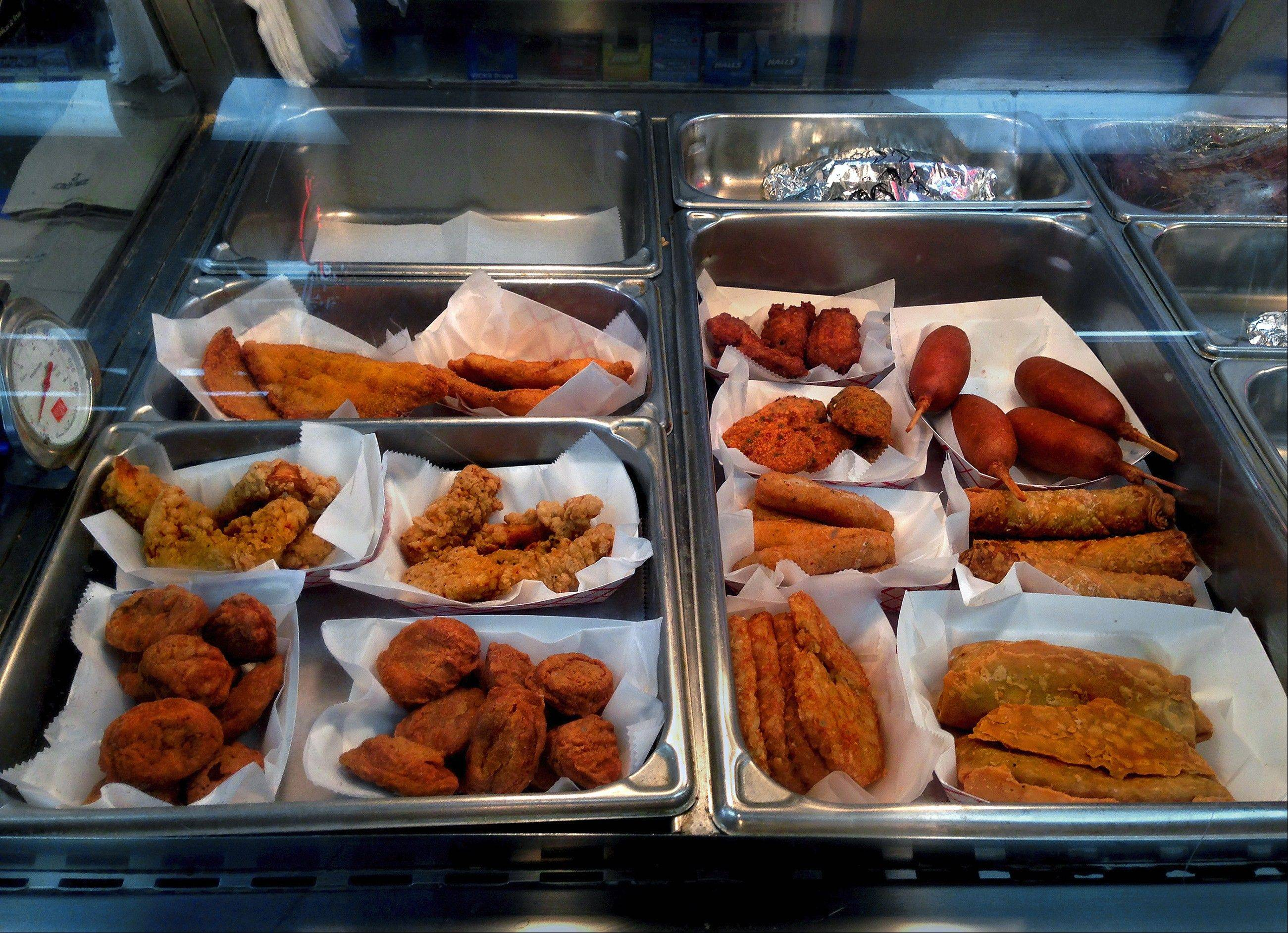 At some restaurants and food stores in McAllen, Texas, every item offered is fried.