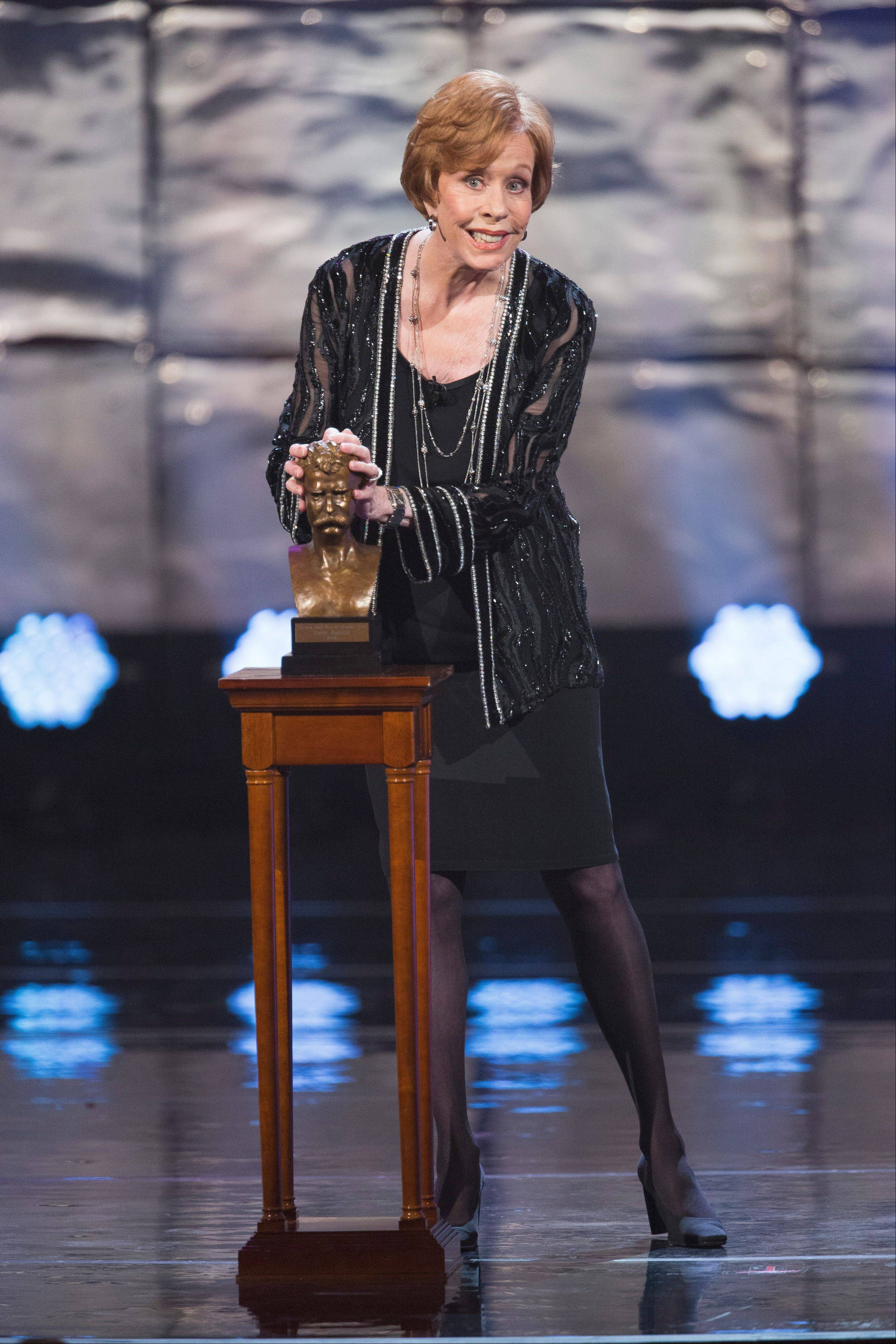 TV variety veteran Carol Burnett received the Kennedy Center's Mark Twain Prize for American Humor last month. The event will air Sunday, Nov. 24, on PBS.
