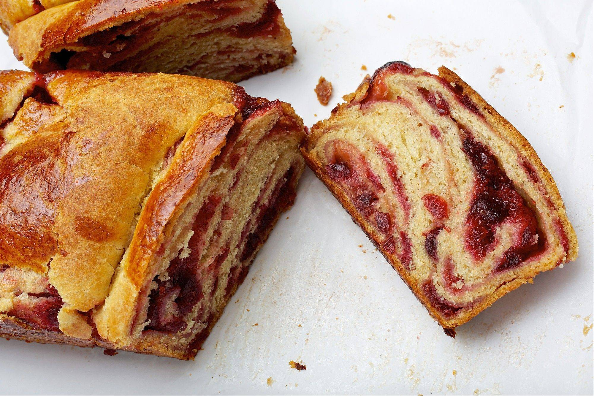 A once-in-a-lifetime convergence of Thanksgiving and Hanukkah inspired kosher baker Paula Shoyer to create cranberry-filled Thanksgiving babka. See this recipe online at dailyherald.com/life/food.