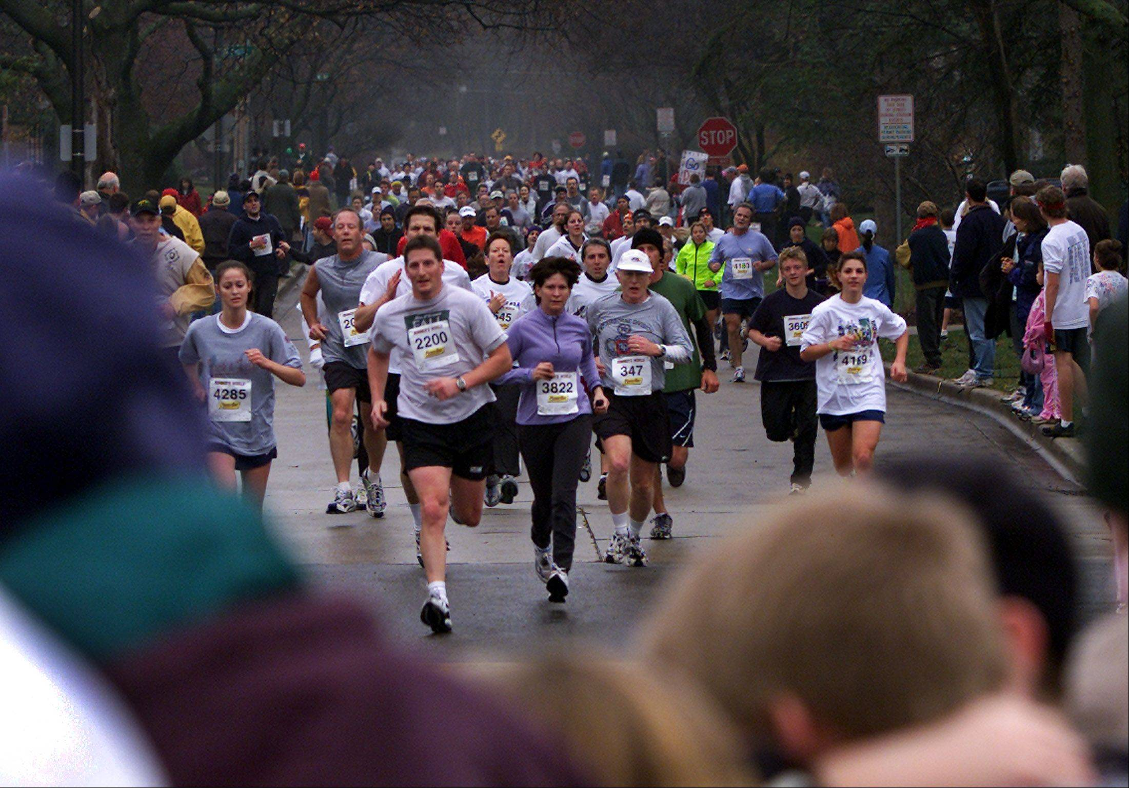 Roughly 7,700 turkey trotters will head toward the finish line at Naperville Central High School on Thursday morning in the 16th annual Naperville Noon Lions Turkey Trot 5K.