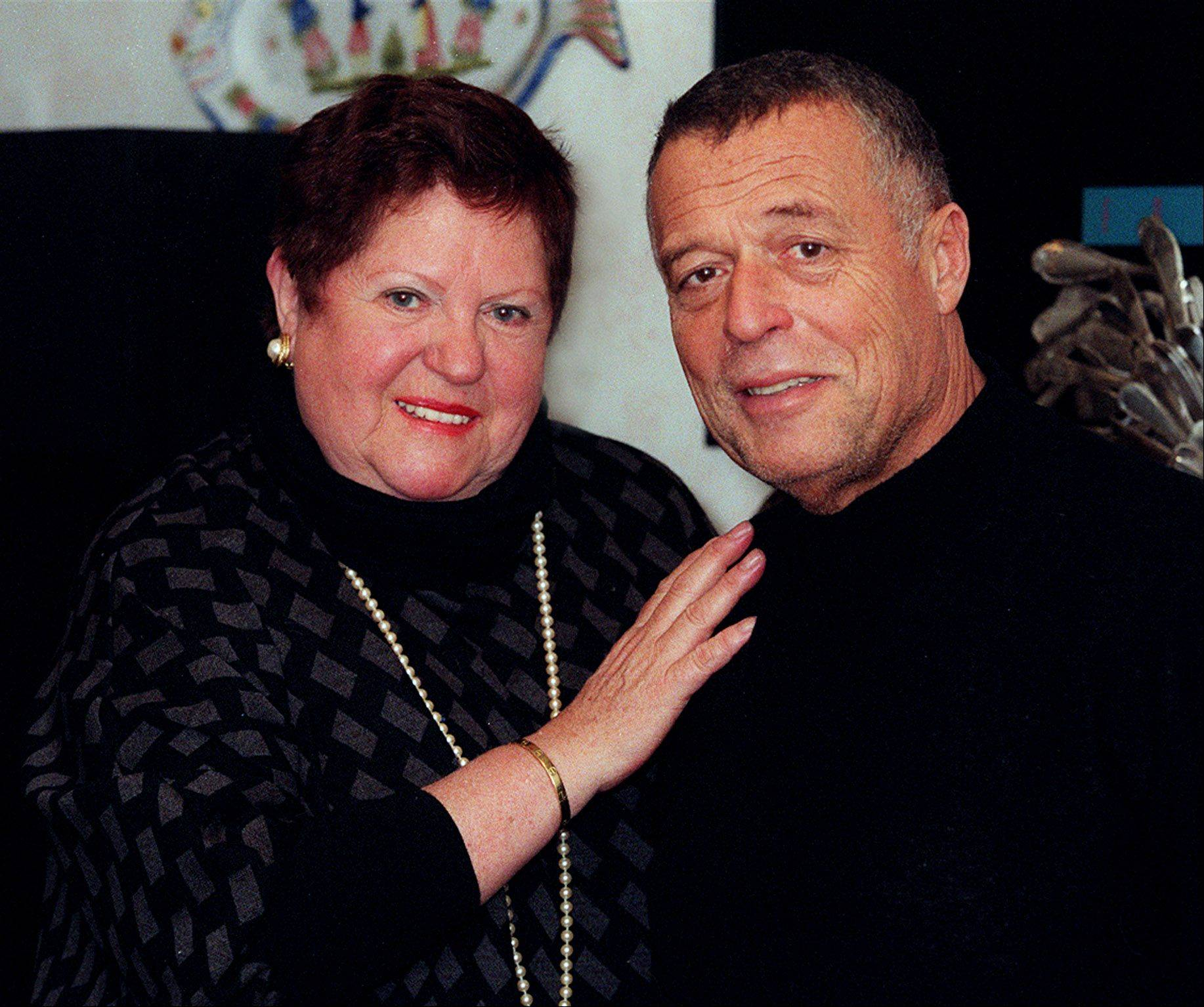 Chef Jean Banchet with his wife, Doris. The acclaimed chef died Sunday in Florida with his wife at his side.