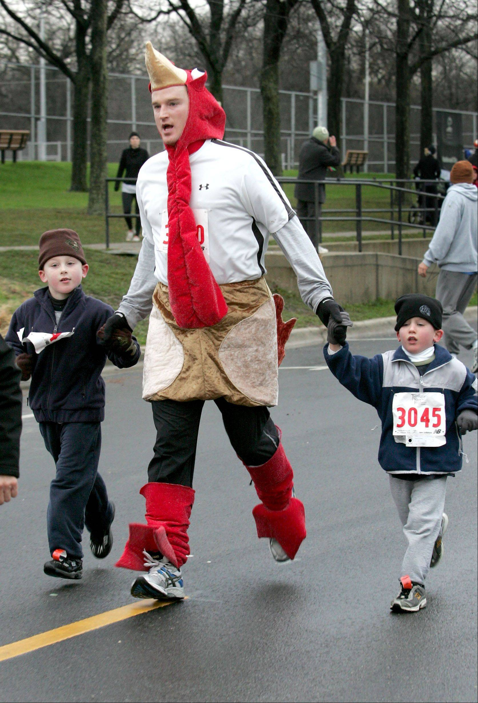 Dressing like a turkey and running with family members are all part of the tradition at the annual Naperville Noon Lions Turkey Trot 5K. The 16th annual race steps off at 8 a.m. Thursday from Hillside Avenue behind Naperville Central High School.