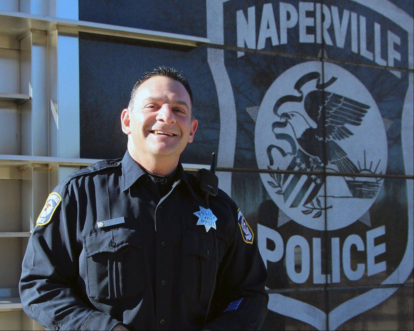 James Sakelakos was among six Naperville police personnel promoted Monday when he stepped up to the rank of sergeant.