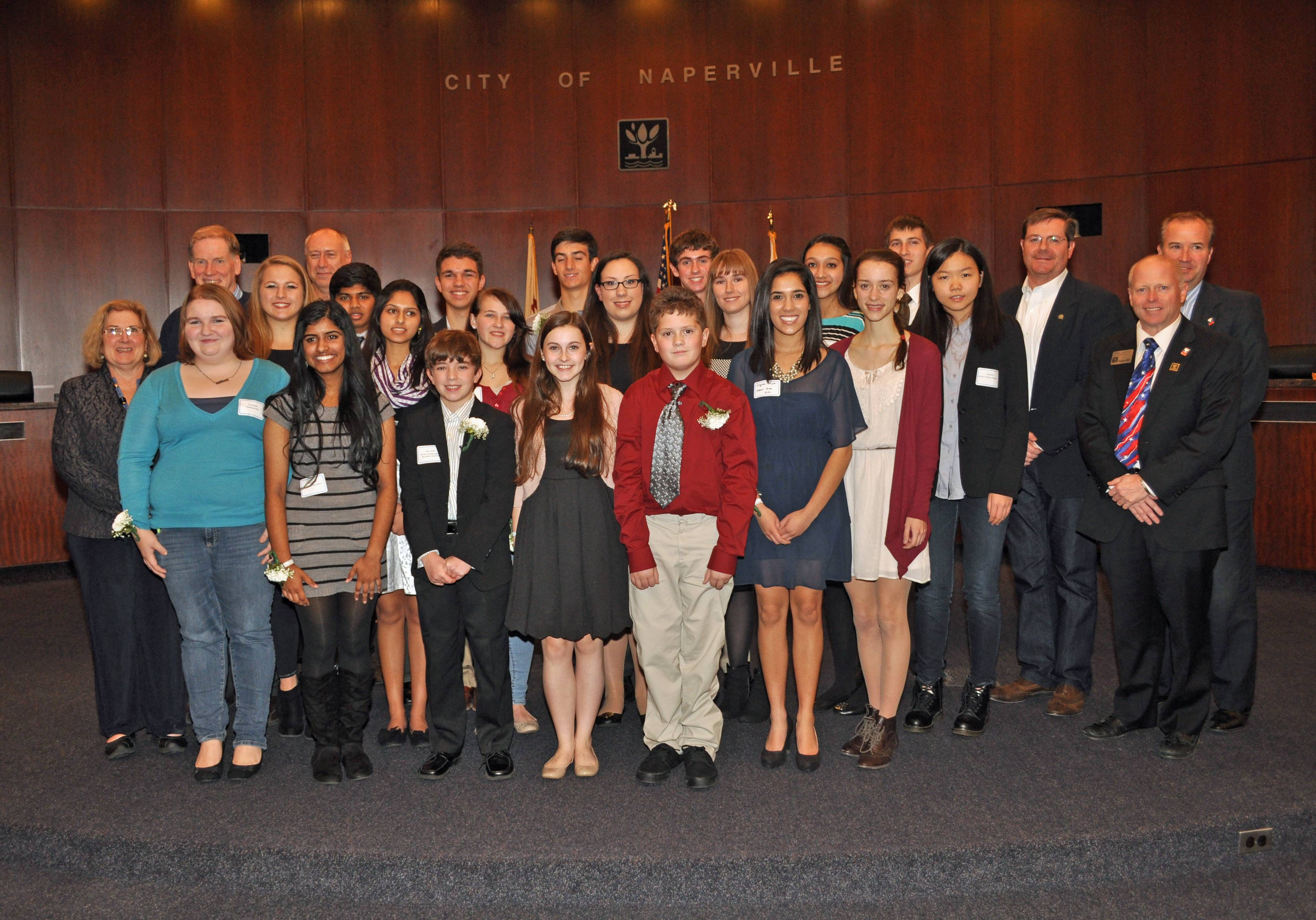 2013 Naperville Youth Service Award Recipients