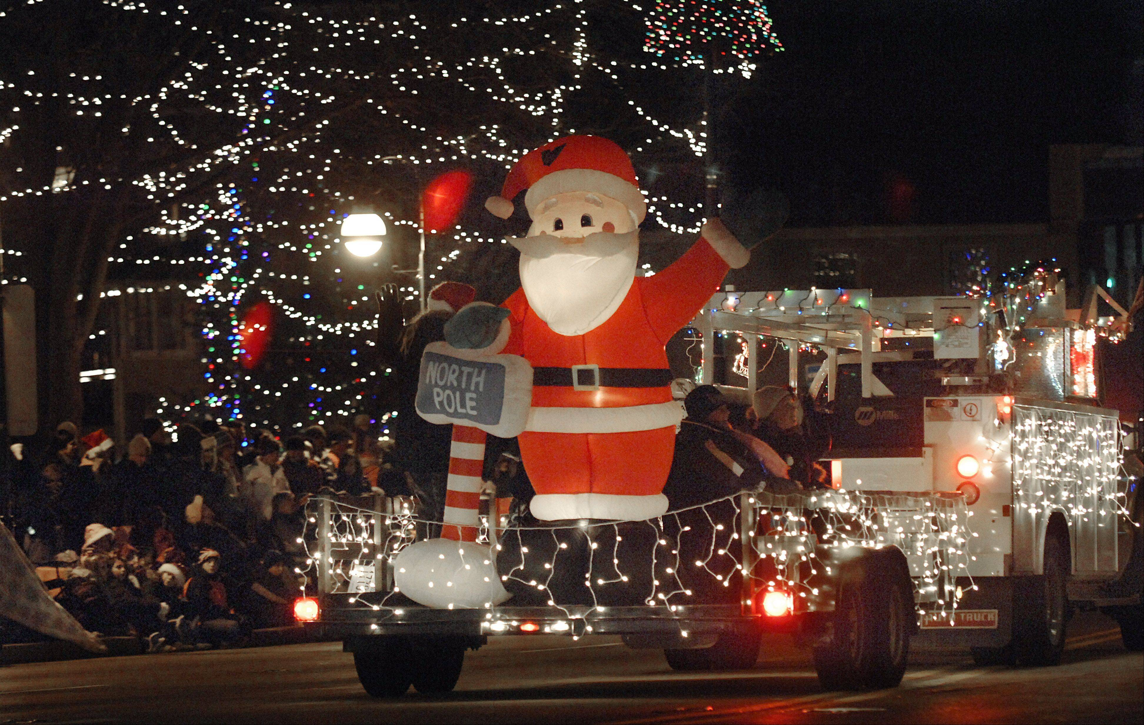 Visitors can be dazzled by nearly 50 lighted elements � floats, cars, motorcycles � at the St. Charles Holiday Homecoming Electric Christmas Parade Saturday, Nov. 30.