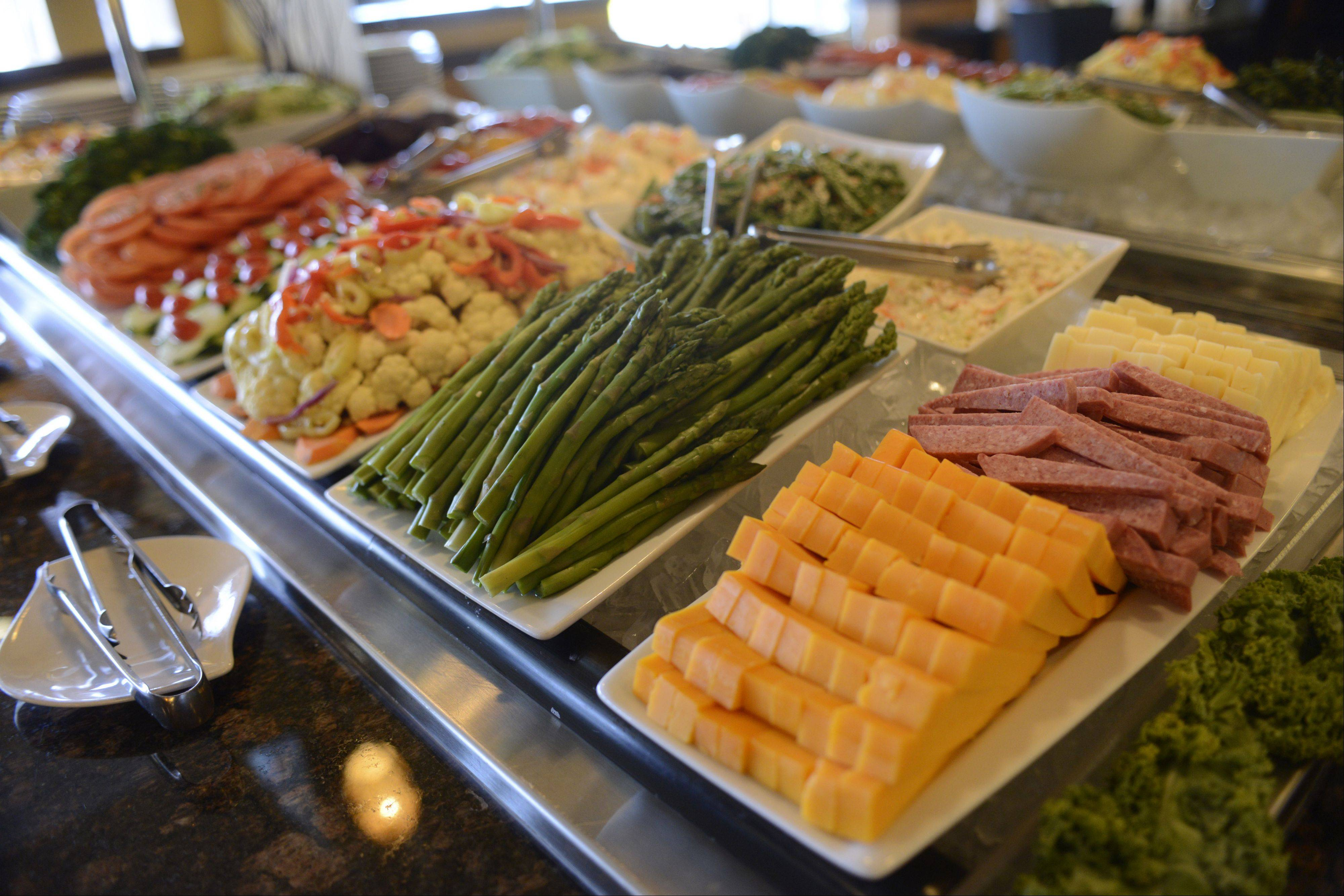 Brazil Express' salad bar offers a variety of cold salads and hot soups.
