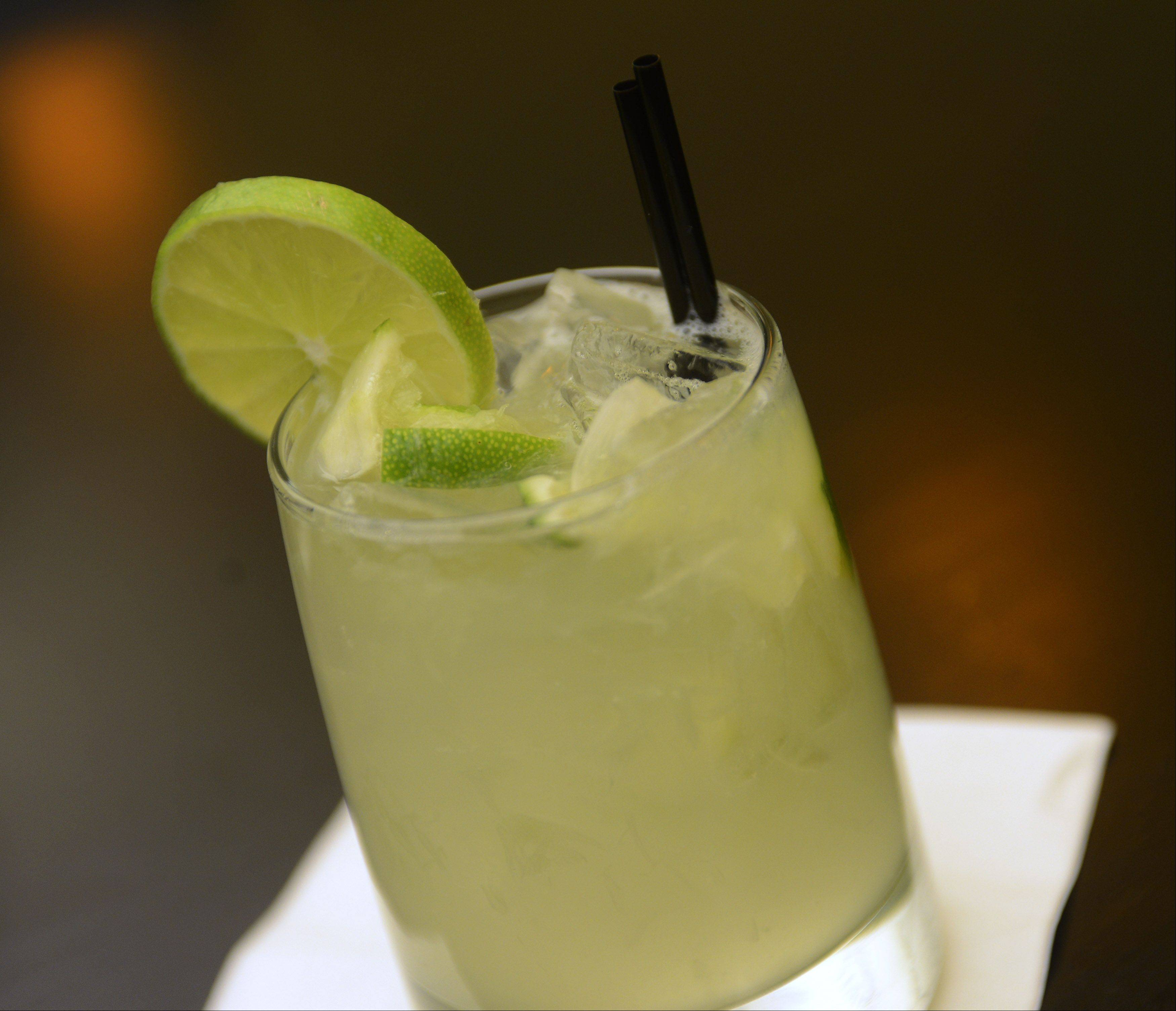 Caipirinha, a traditional Brazilian cocktail, is just one cocktail option at Brazil Express in Schaumburg.