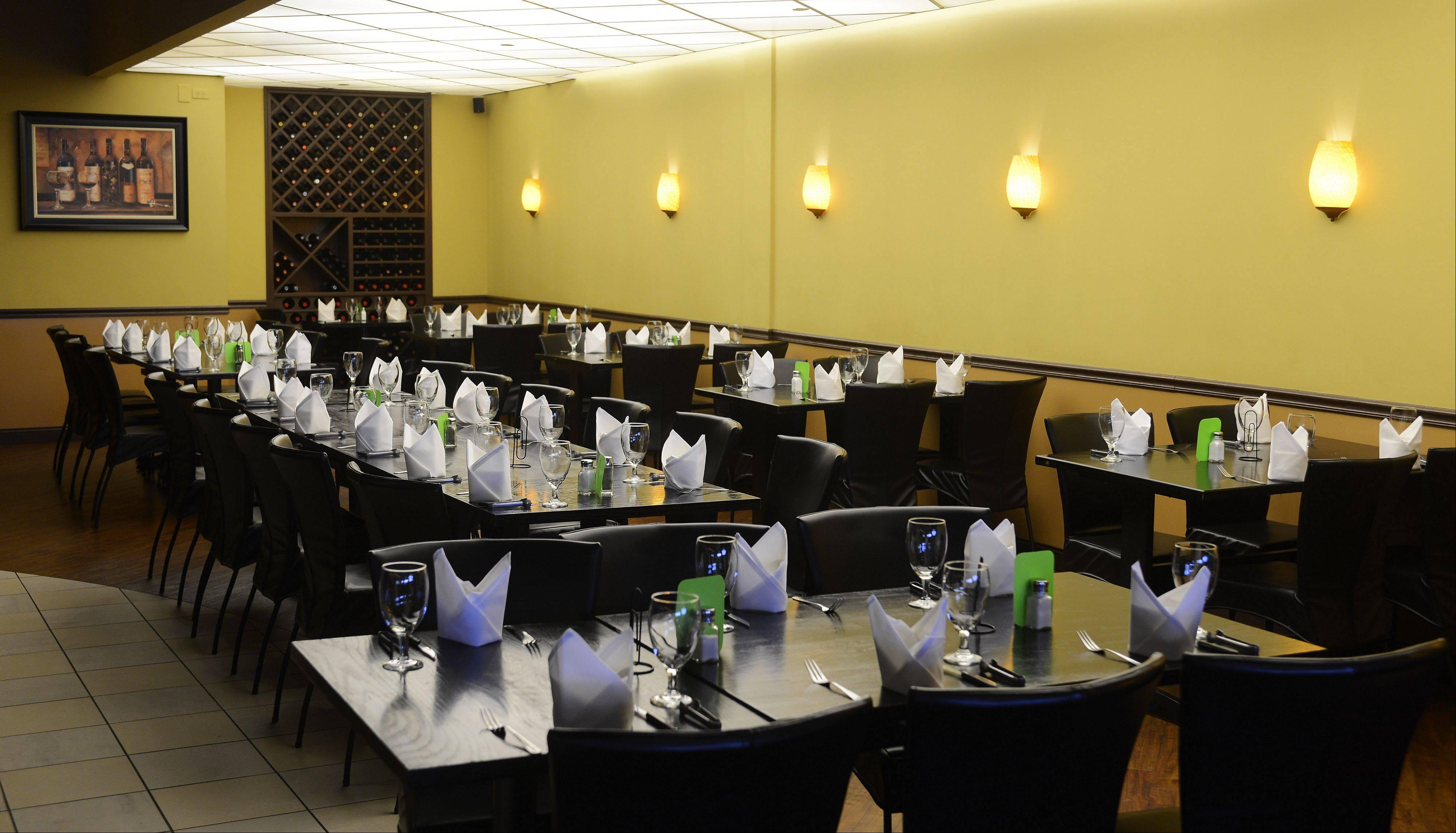 The dining room is inviting at Brazil Express.