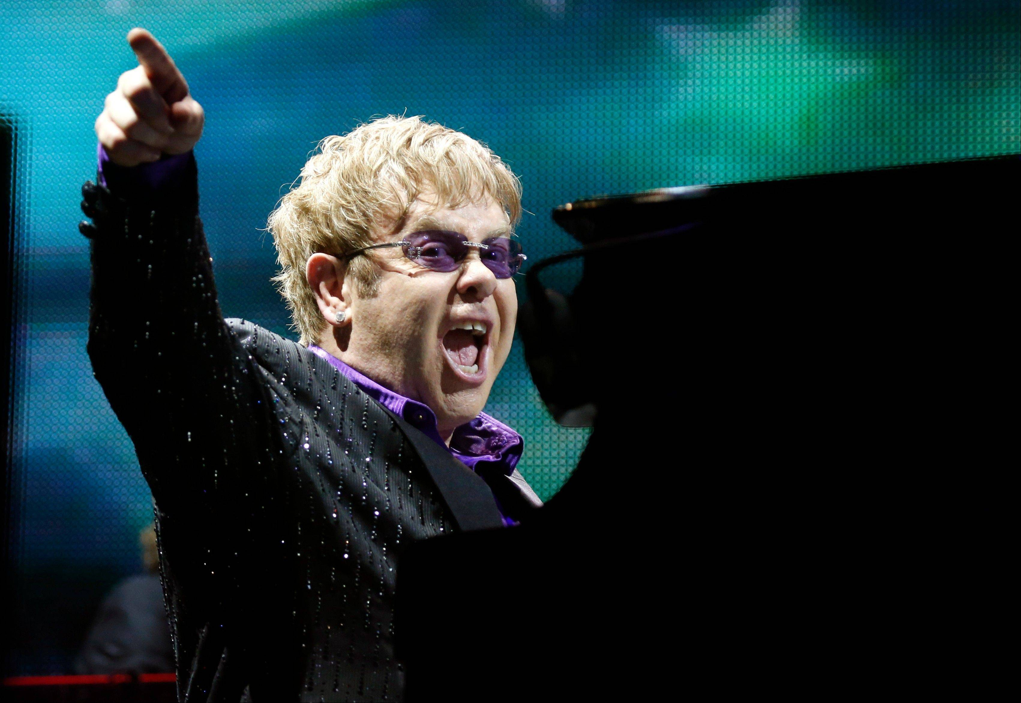 Elton John performs at the Allstate Arena in Rosemont on Saturday, Nov. 30.