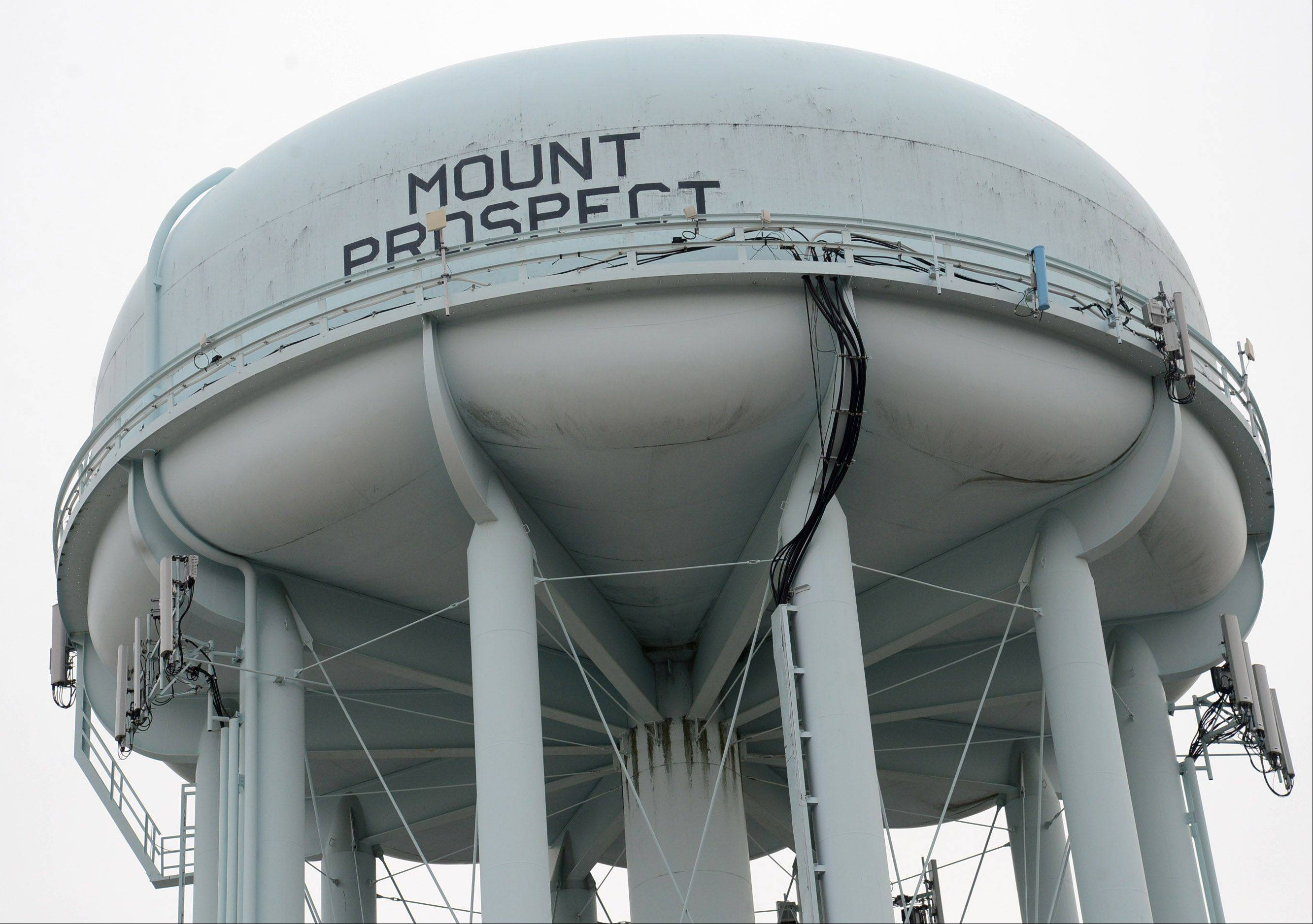 Mount Prospect trustees have approved spending $590,000 to repaint this water tower on Northwest Highway next year.