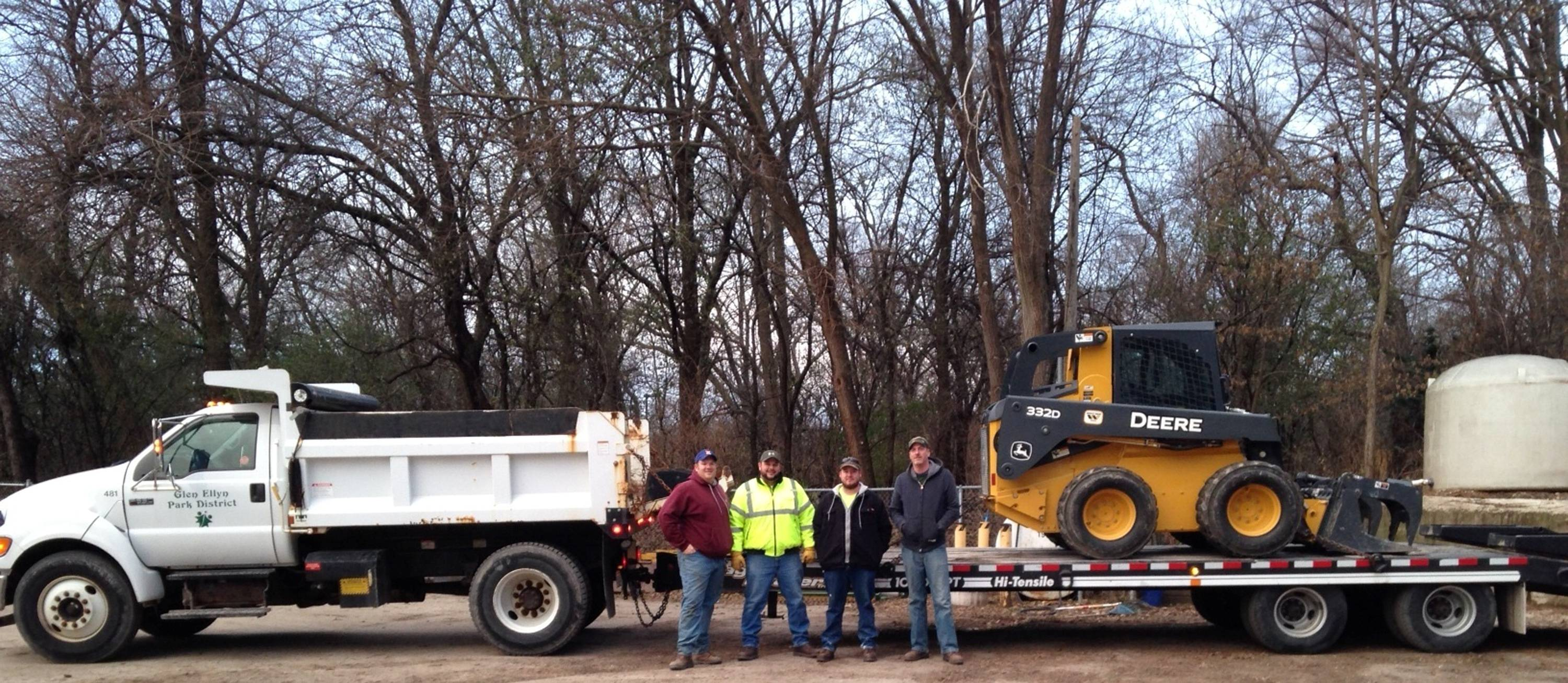 Pictured from left to right: Dave Rajeck, Brian Cannaday, Kevin Blum and Tim Leonard of the Glen Ellyn Park District maintenance staff.