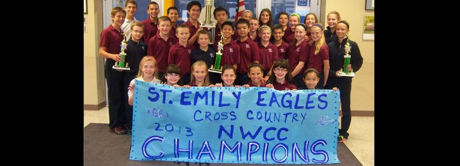 2013 St Emily Cross Country Team, 1st place in the NWCC Conference