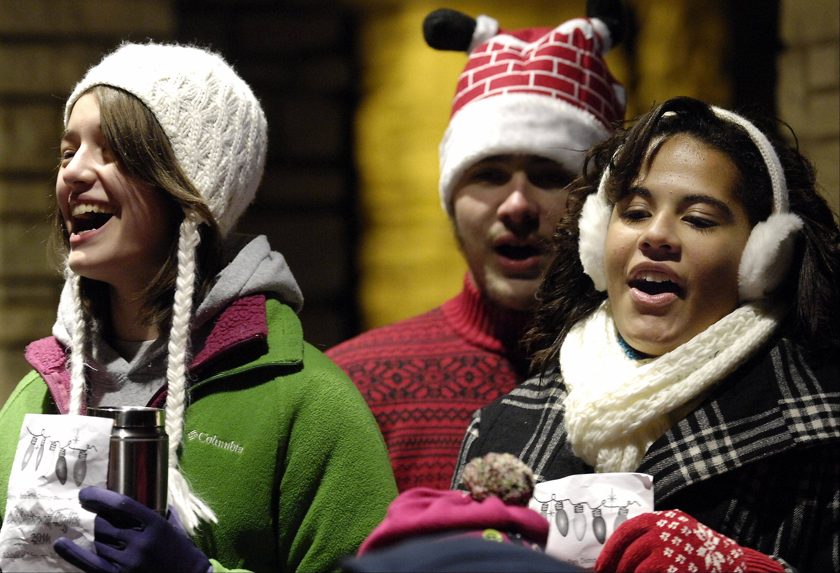 Join the community singalong and tree lighting ceremony at the annual Celebration of Lights Sunday in Batavia.