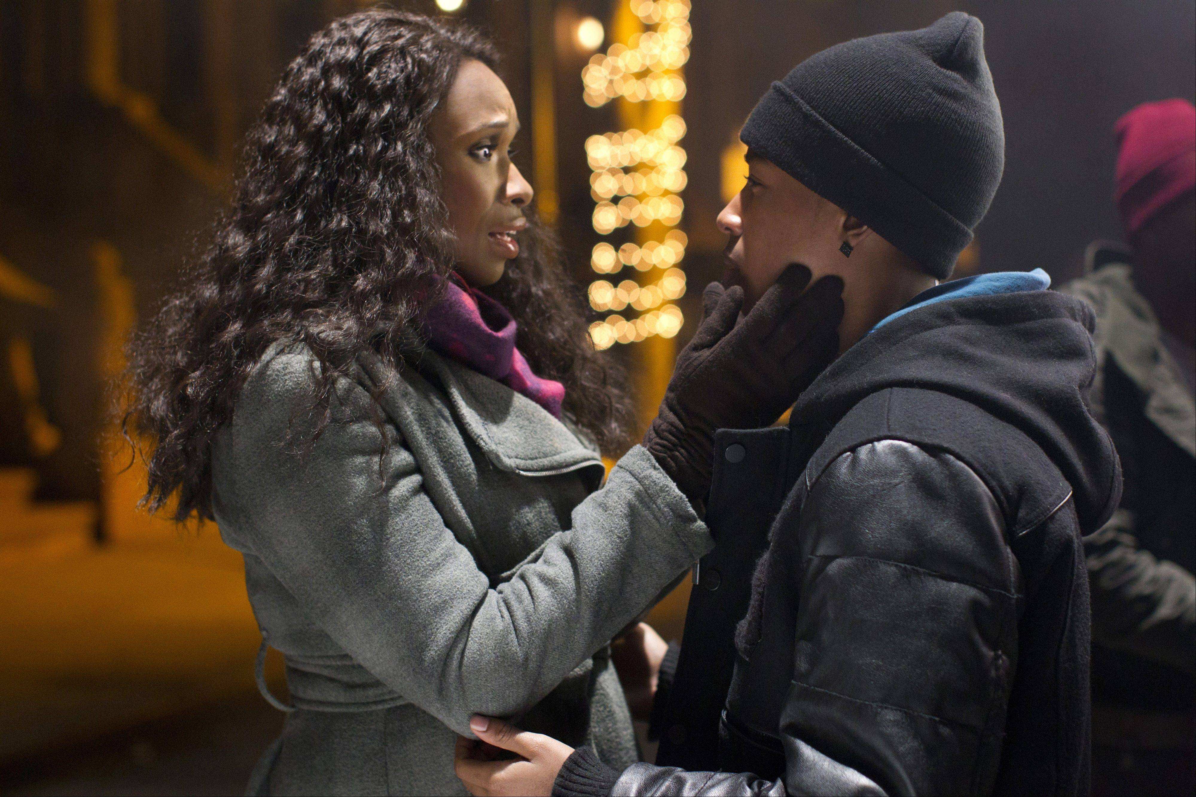 "Naima (Jennifer Hudson) must send her son Langston (Jacob Latimore) to live with her estranged parents in ""Black Nativity."""