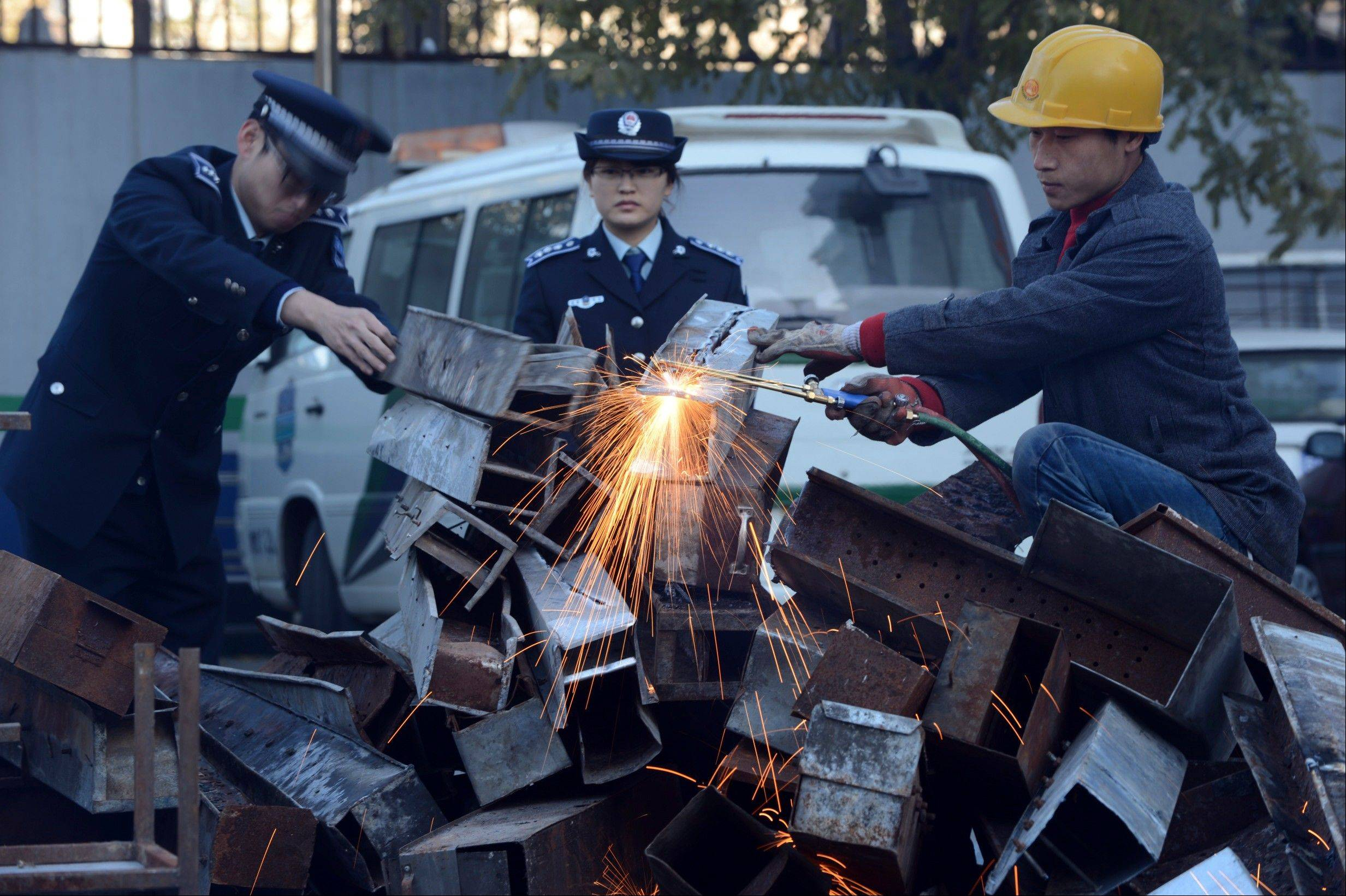Authorities in China�s capital have destroyed more than 500 open-air barbecues �to cut PM2.5� � the tiny particulate matter in the air that can enter deep into the lungs.