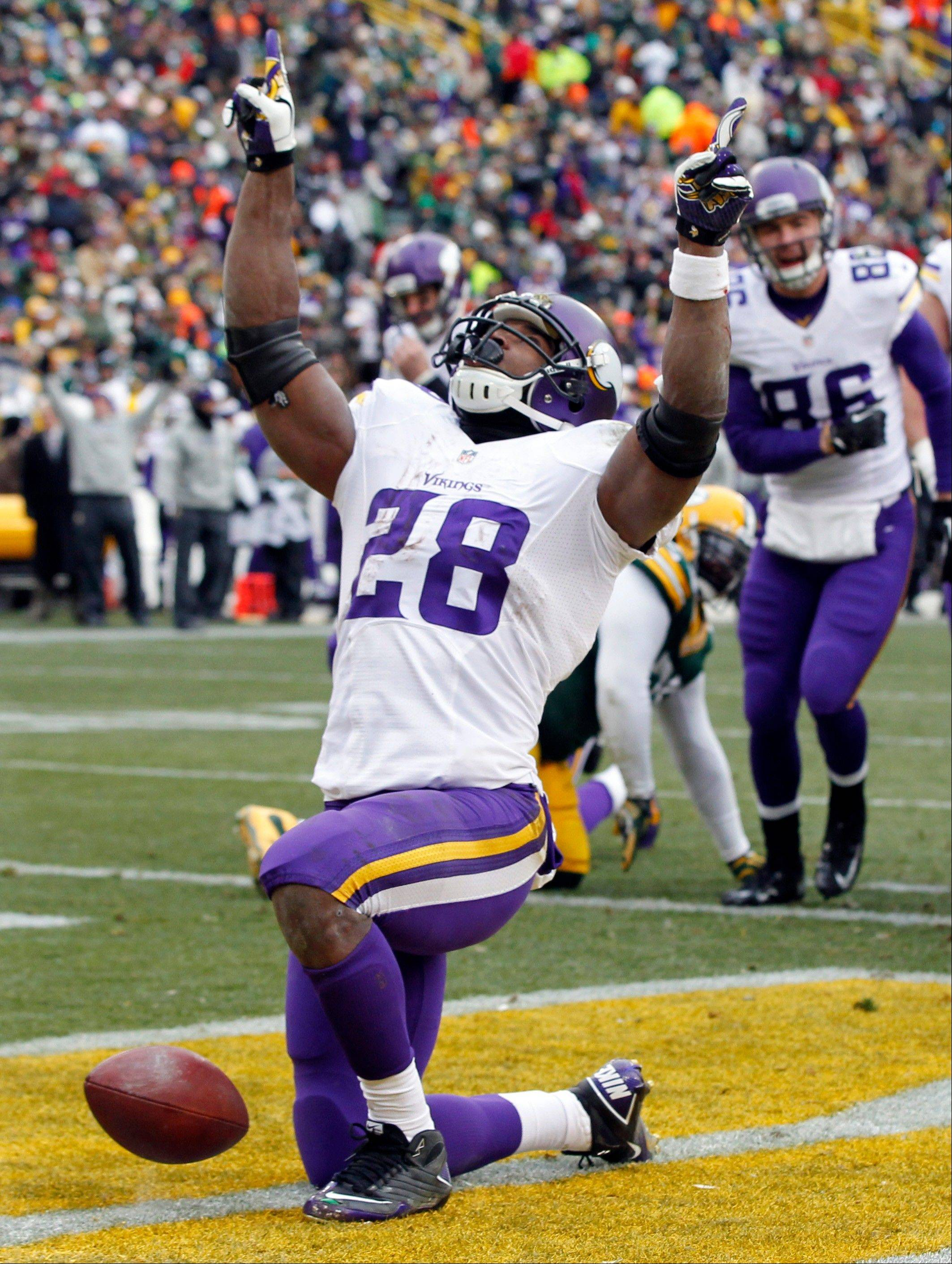 Stopping Vikings running back Adrian Peterson should be the sternest test yet for a Bears defense ranked last in the NFL against the rush.