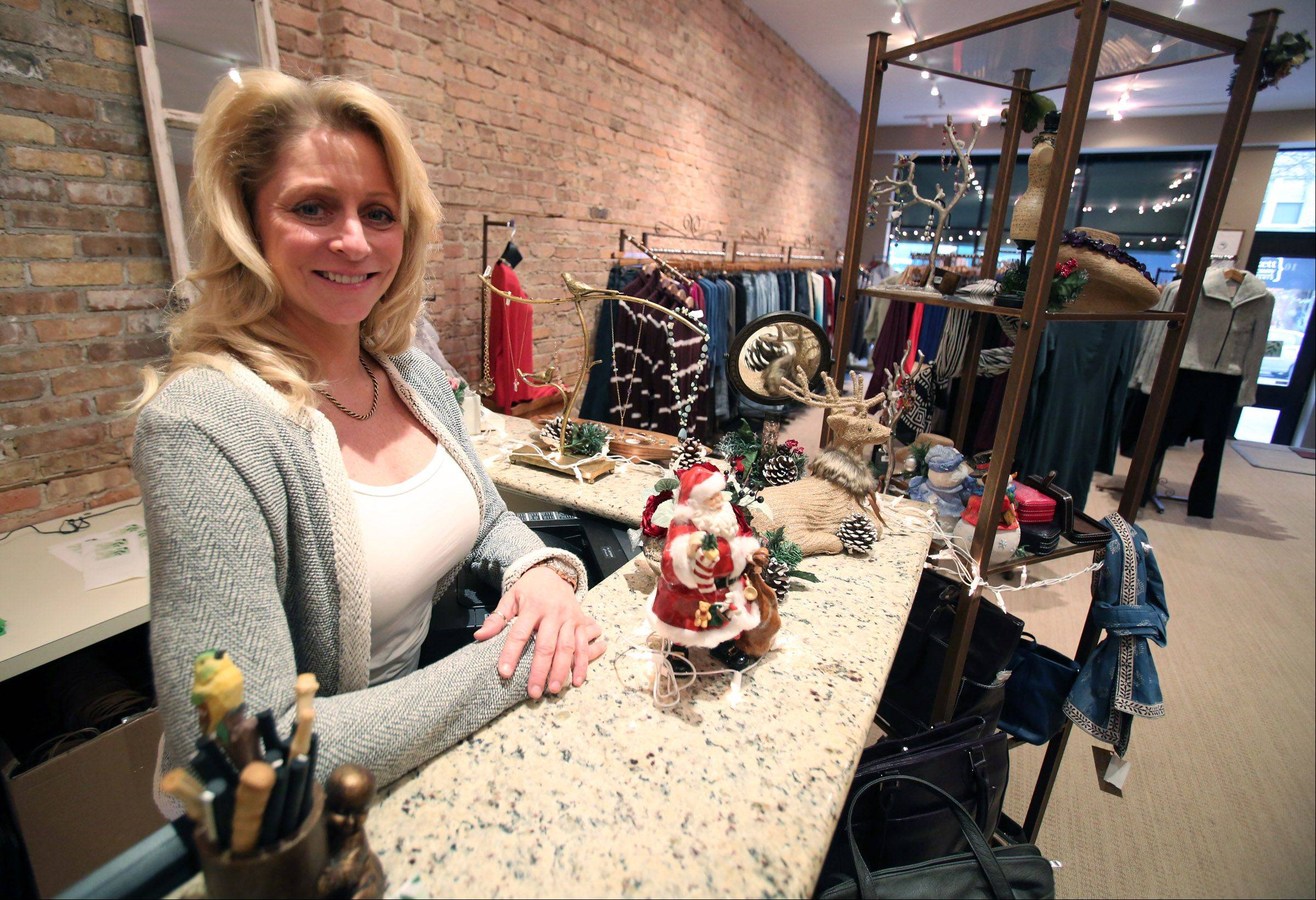Jennifer Vanacora, owner of Eco Diva Clothing, plans special promotions for Small Business Saturday this weekend.