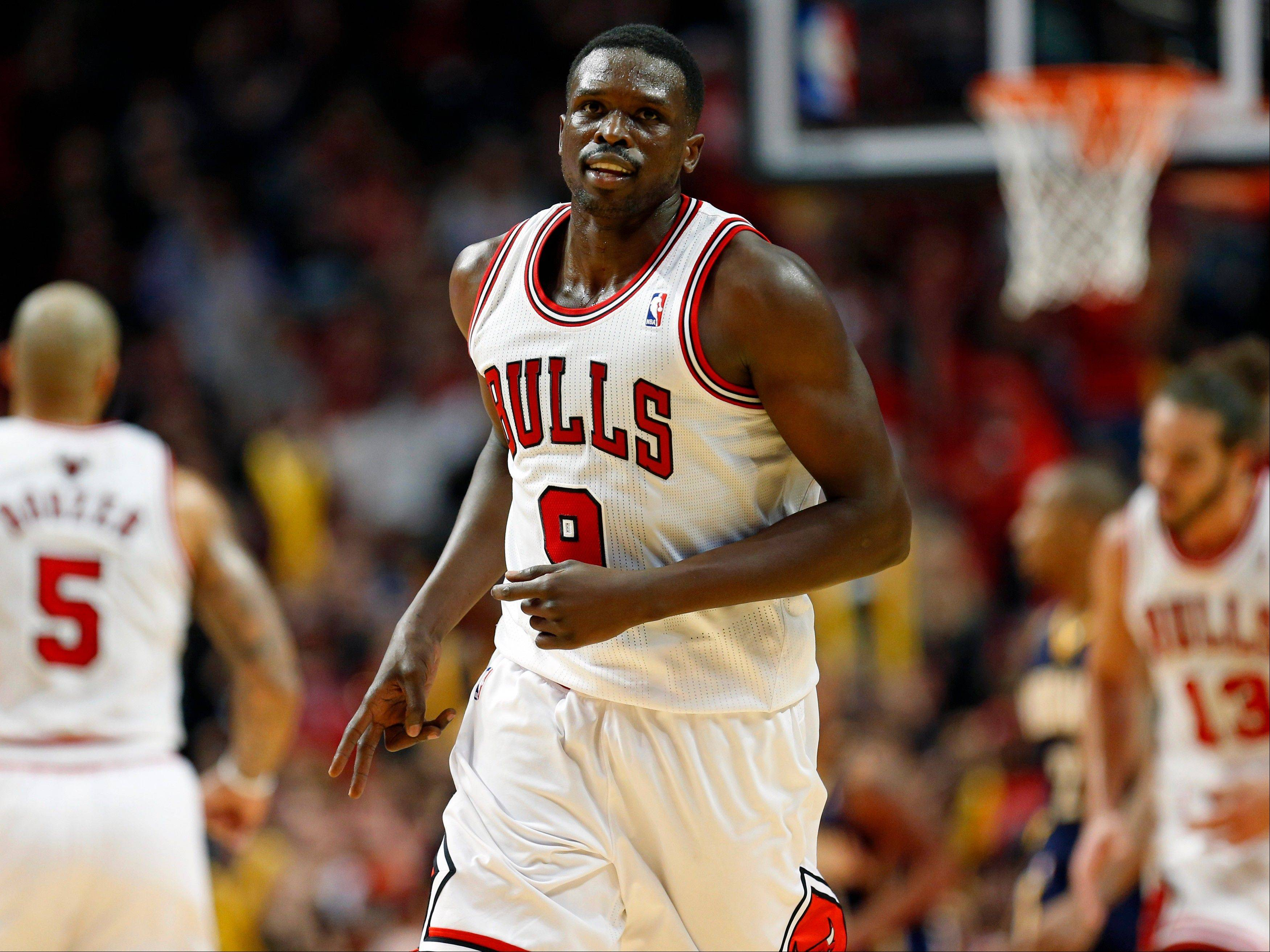 Trading forward Luol Deng and getting a good player in return could be difficult with Deng's expiring contract. Contending teams may not have the right fit in return, and other teams may be worried about not being able to re-sign him.