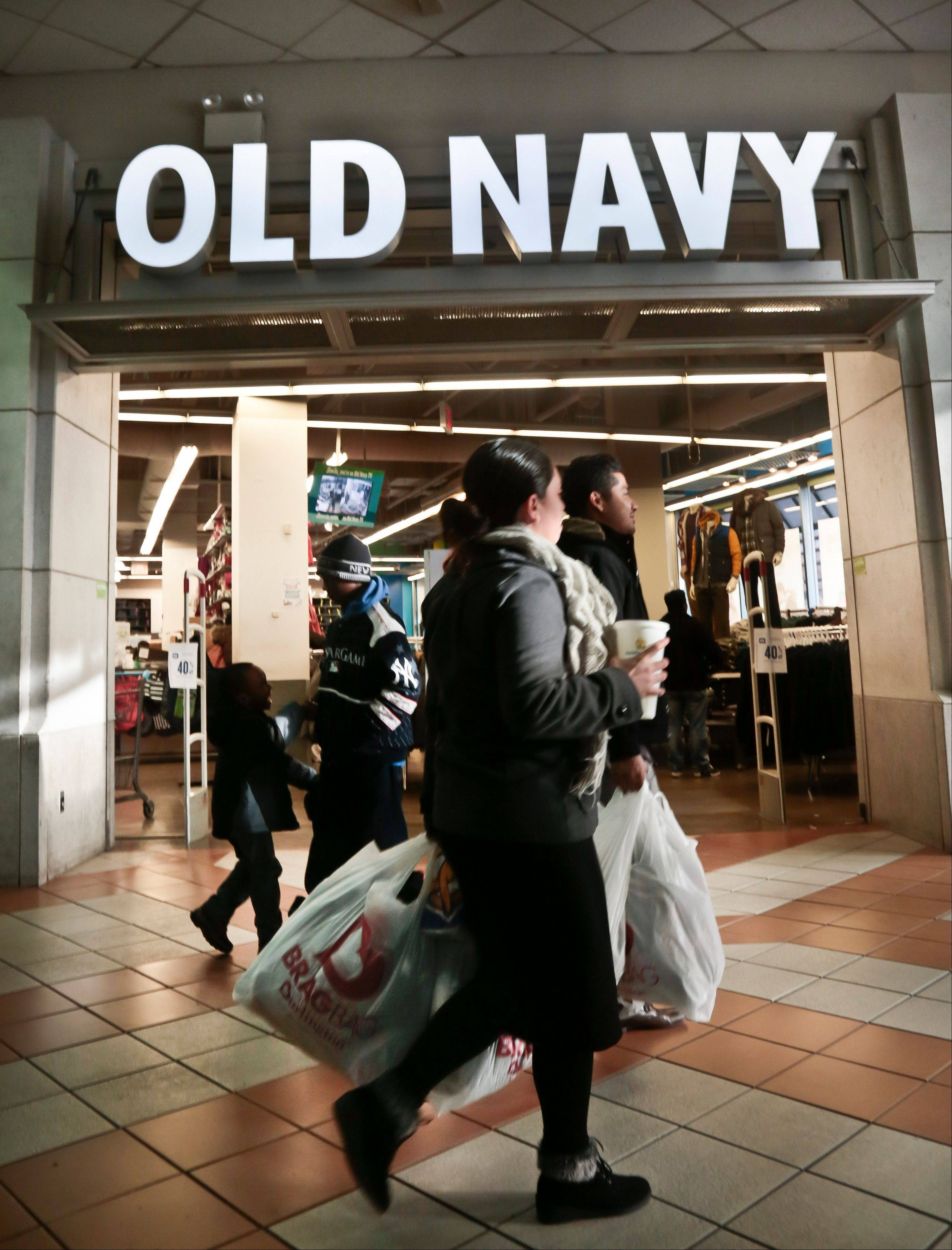 Shoppers approach Old Navy store at Atlantic Terminal Mall in New York. A major push among retailers encourages shoppers to agree to be tracked in exchange for a good deal. Brick-and-mortar stores used to balk at customers who used smartphones to compare prices at rival stores, but retailers like Target are now pushing their own mobile apps and offering in-store Wi-Fi.