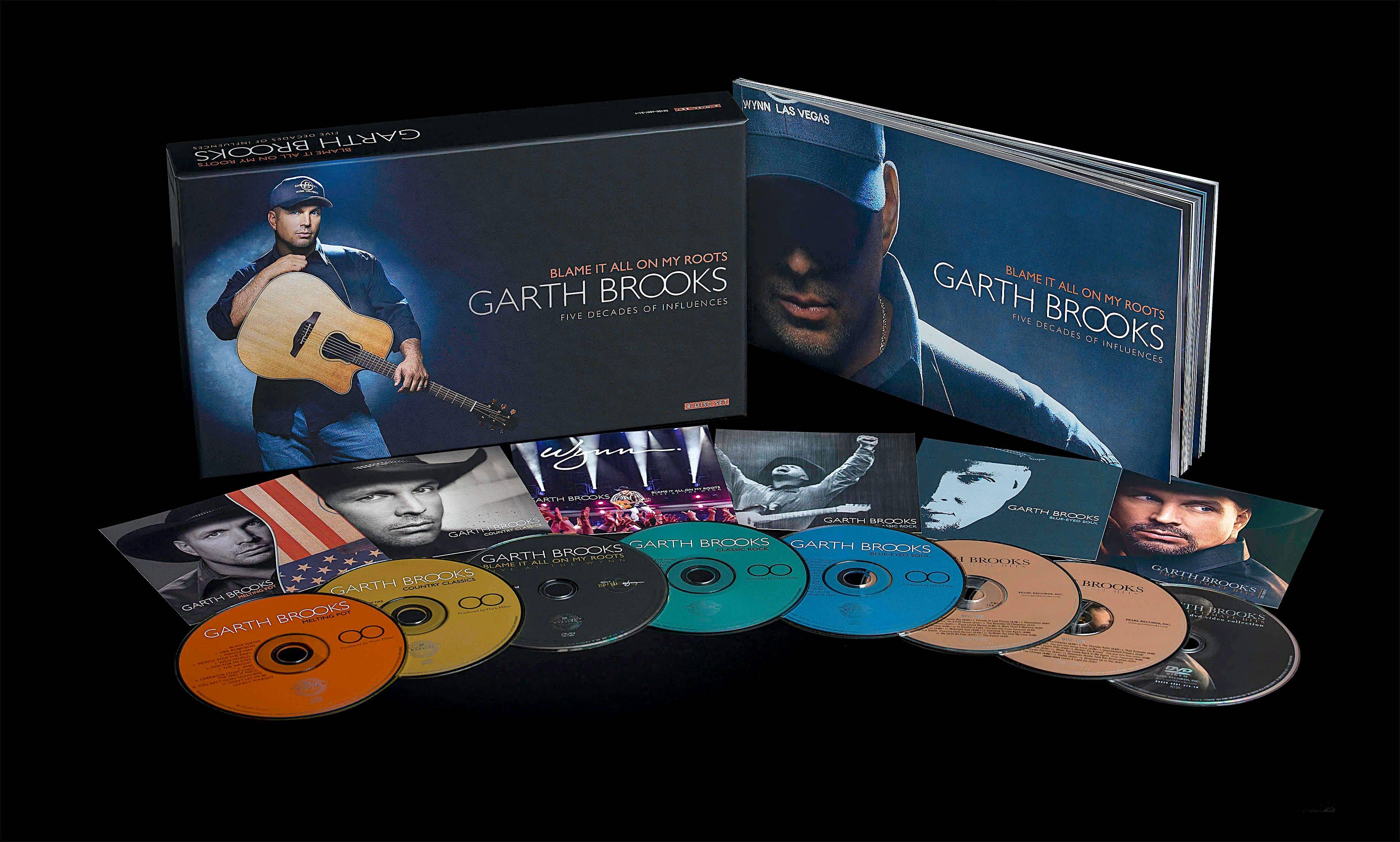 "Garth Brooks' ""Blame It All On My Roots"" will be in stores Thursday."