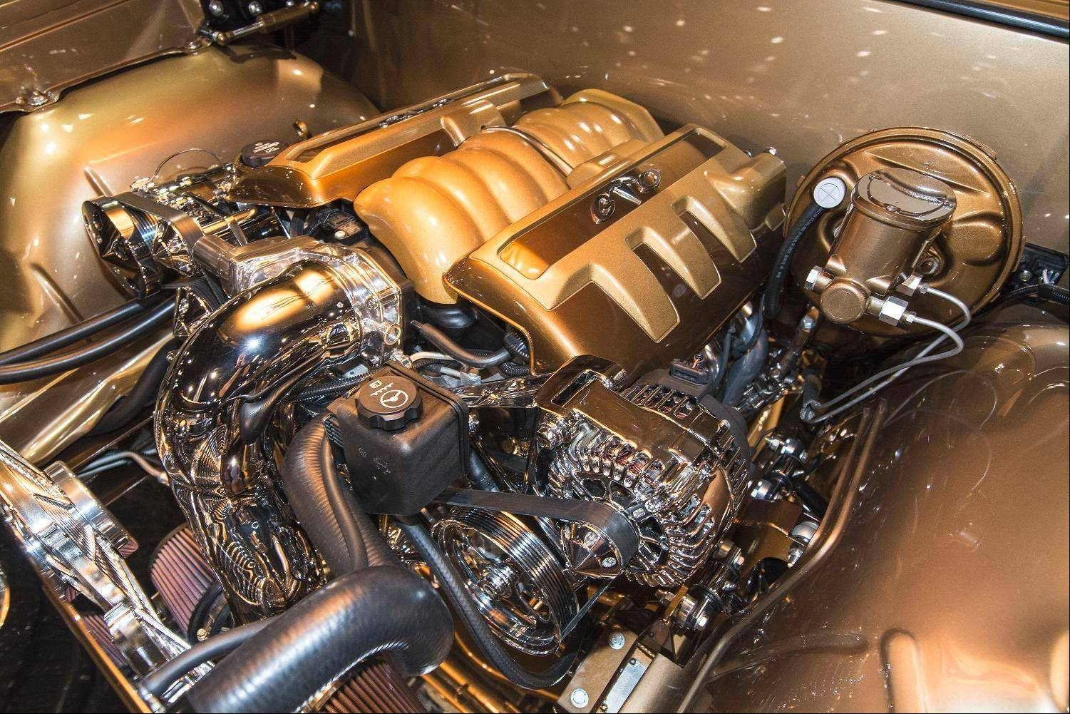 Modern fuel-injection technology has replaced the GTO's original V-8 engine.