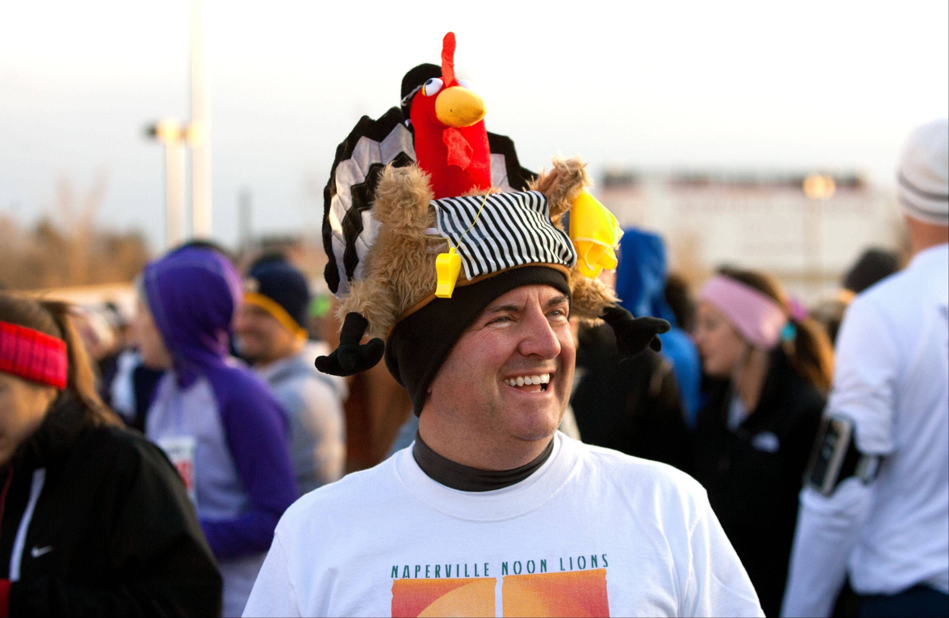 Mike Wolfsmith of Naperville, along with 7,500 other runners, participated in the 16th annual Naperville Noon Lions 5K Turkey Trot on Thanksgiving Day.